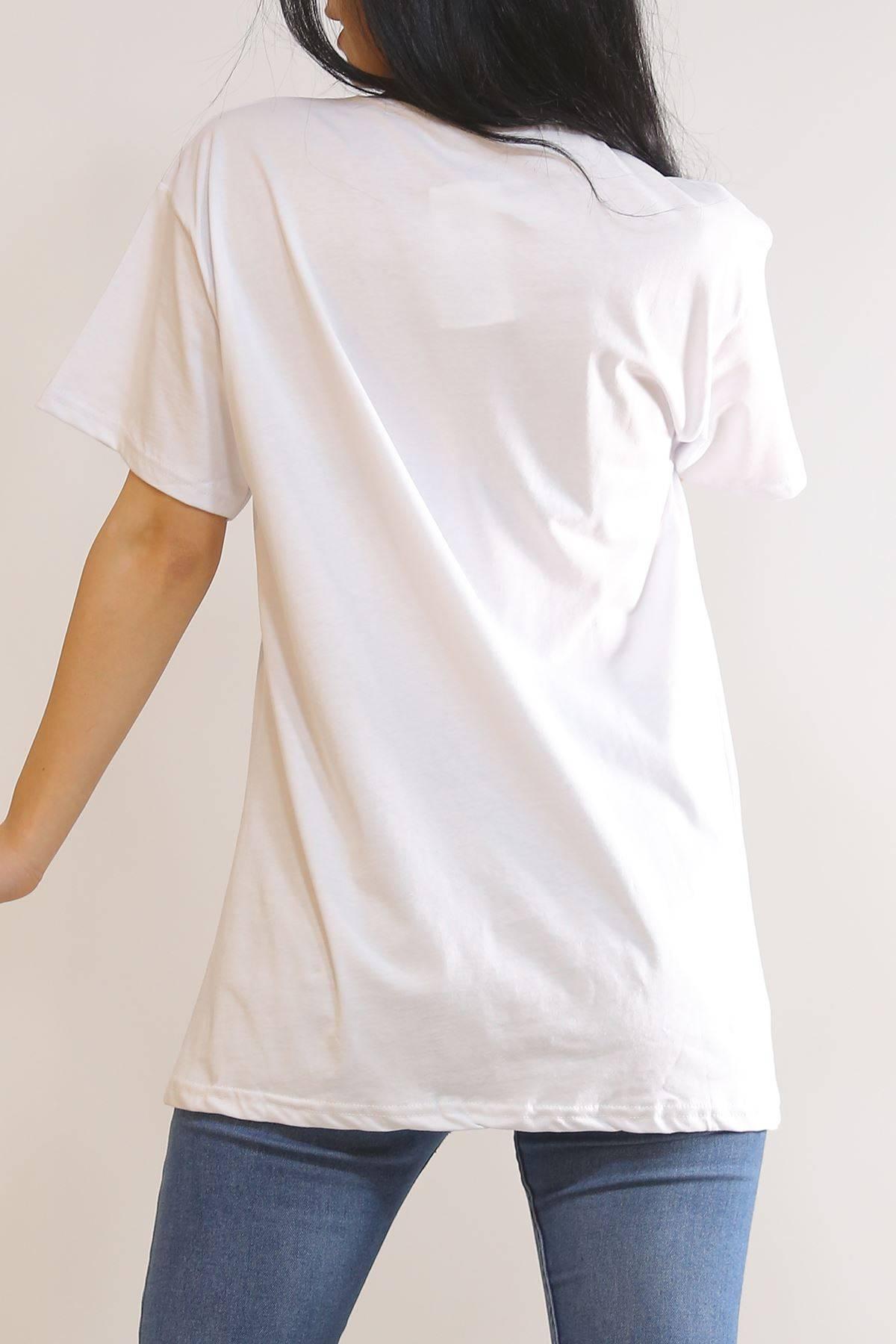 Baskılı Tişört Beyaz - 5902.1377.
