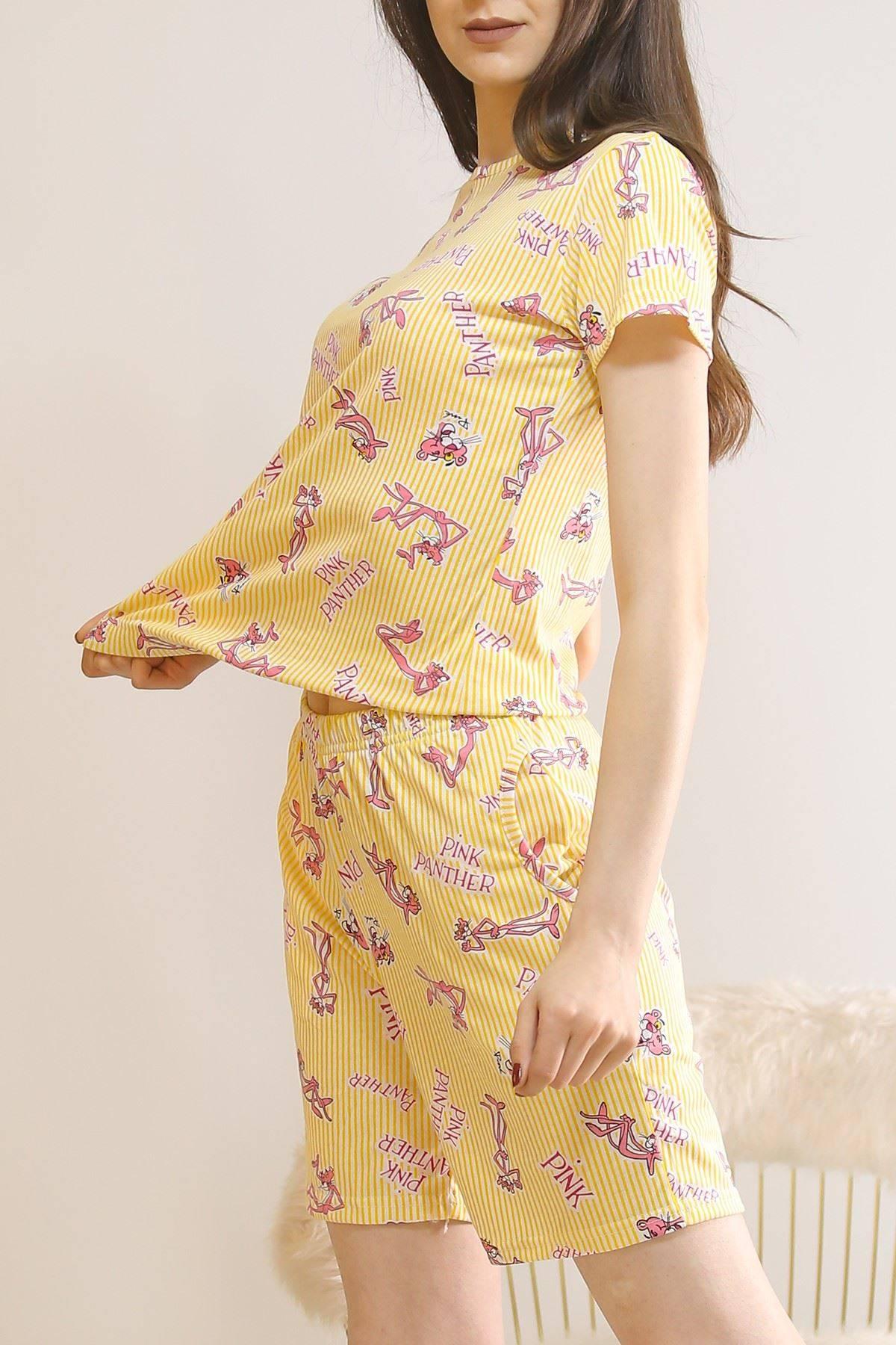 Şortlu Pijama Takımı Sarı - 5924.1059.