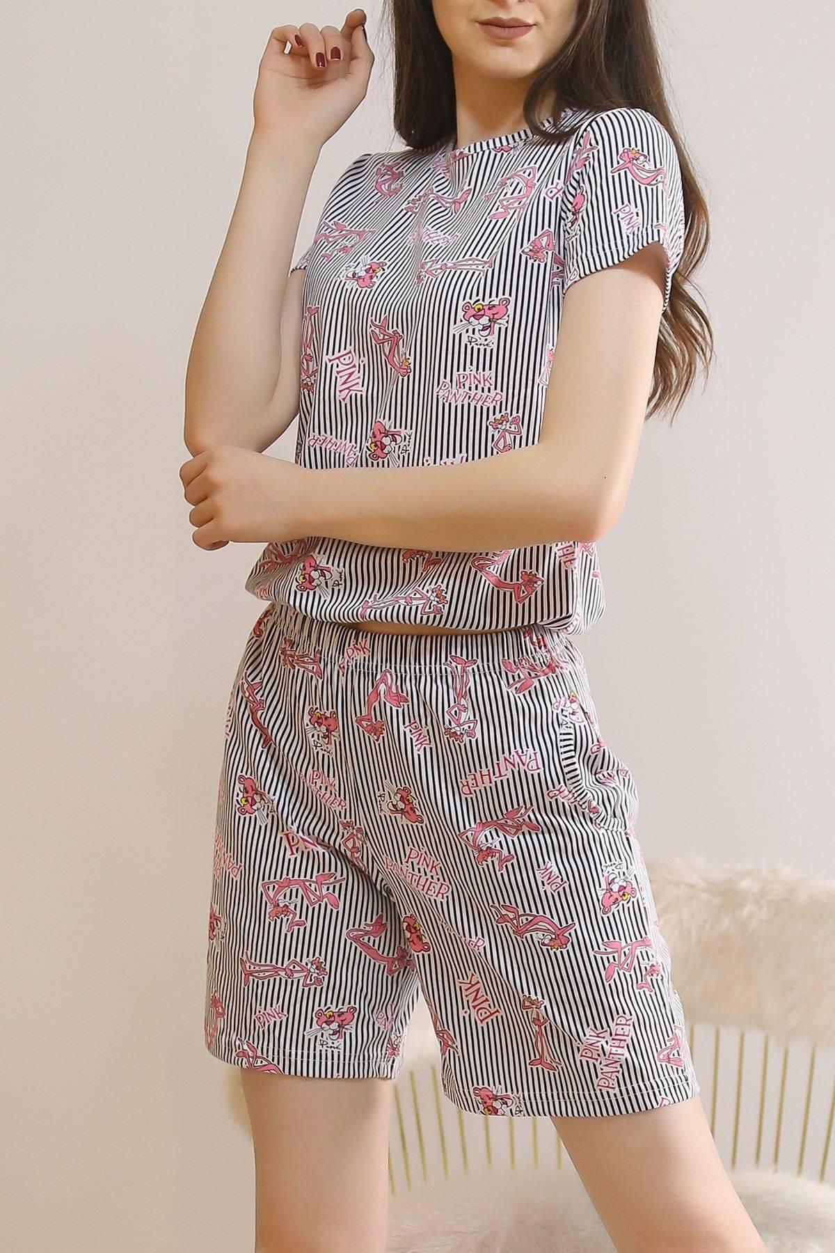 Şortlu Pijama Takımı Siyah1 - 5924.1059.
