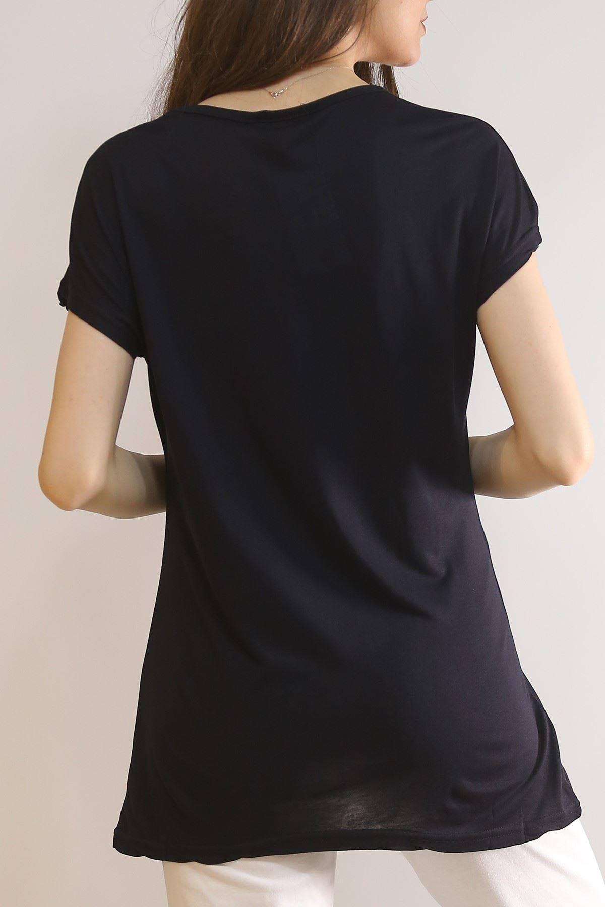 Baskılı Tişört Siyah - 5978.102.