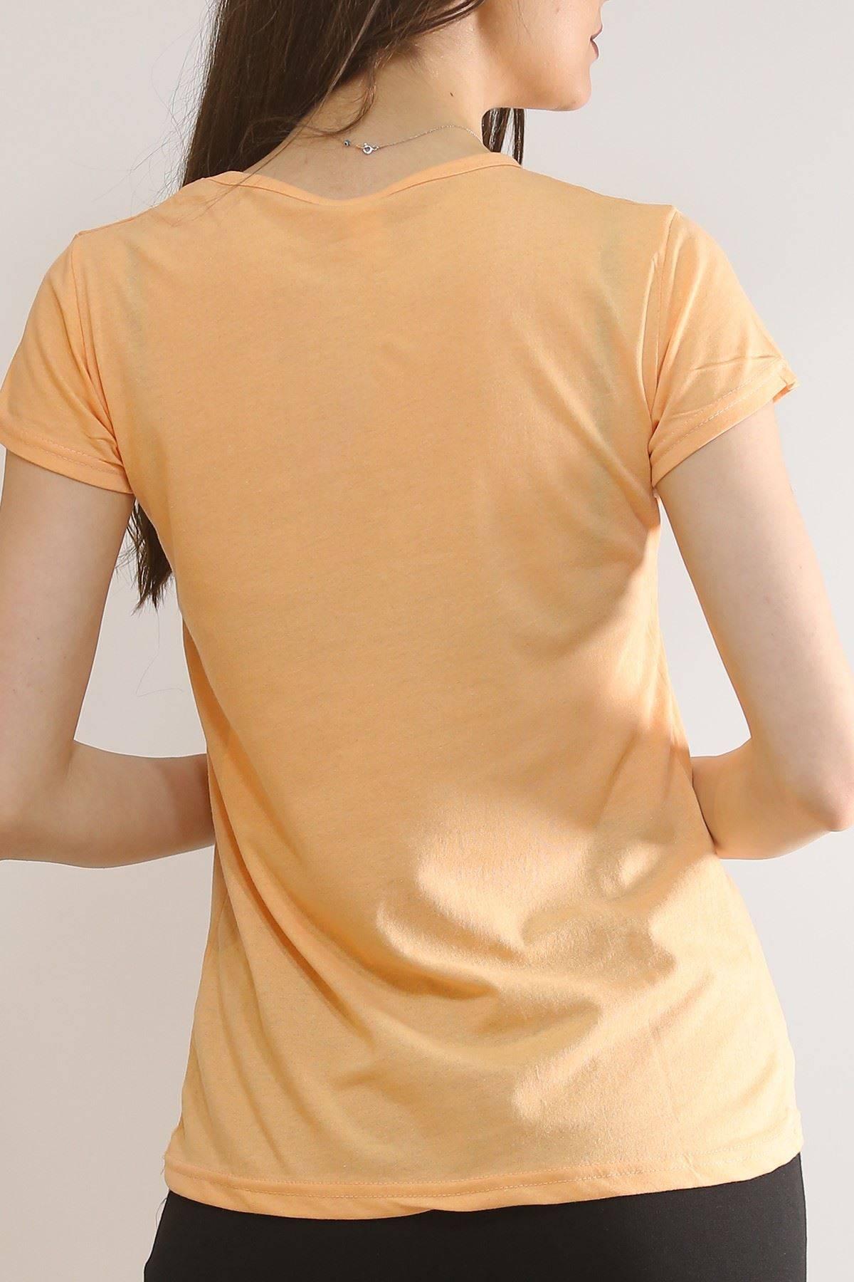 Baskılı Tişört Somon - 5819.102.