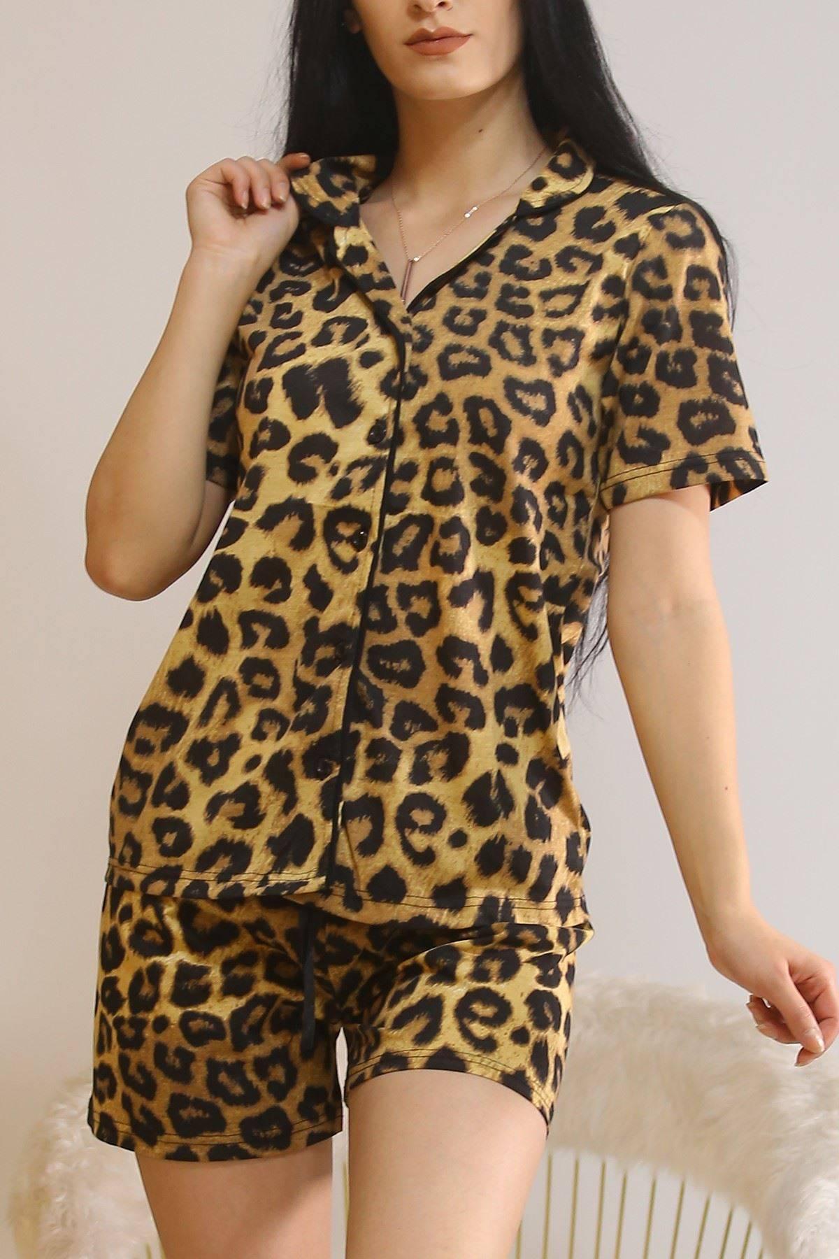 Şortlu Pijama Takımı Leopar - 5979.102.