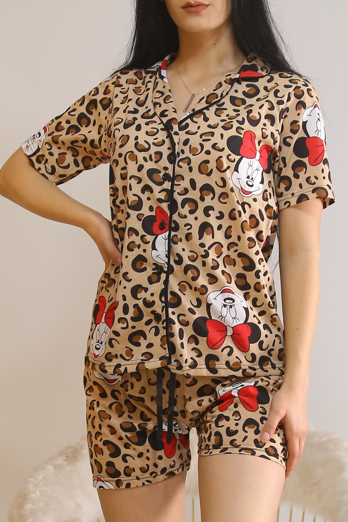 Şortlu Pijama Takımı Leopar1 - 5979.102.