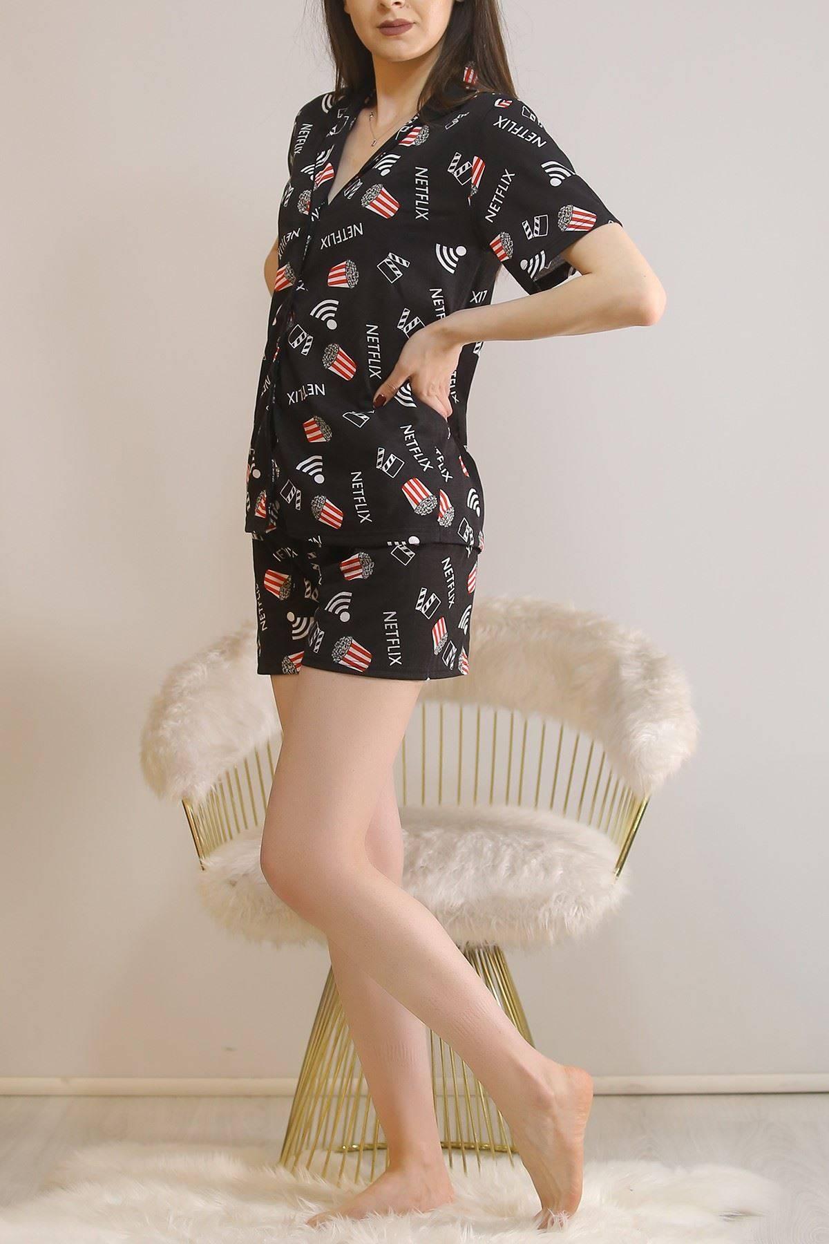 Şortlu Pijama Takımı Siyah - 5979.102.