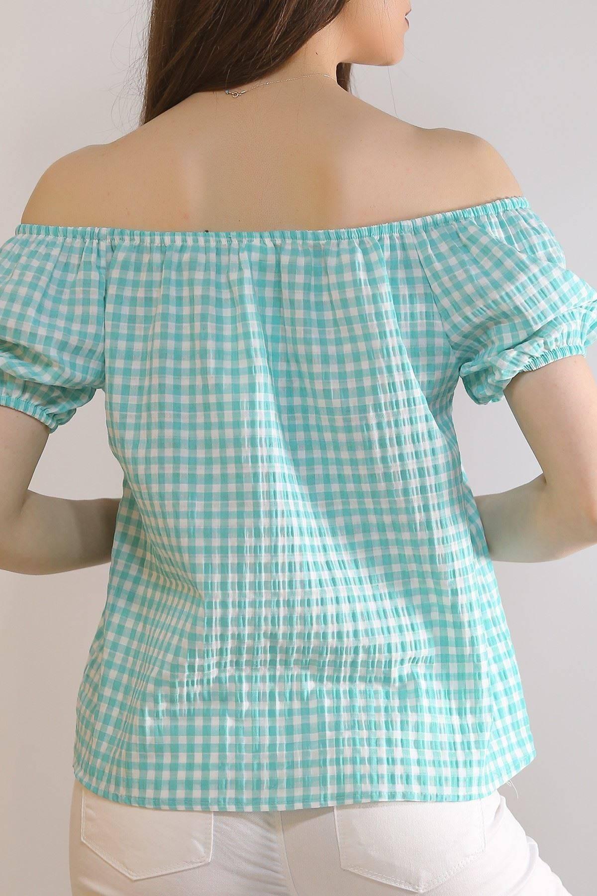 Kayık Yaka Bluz Yeşil - 5980.107.