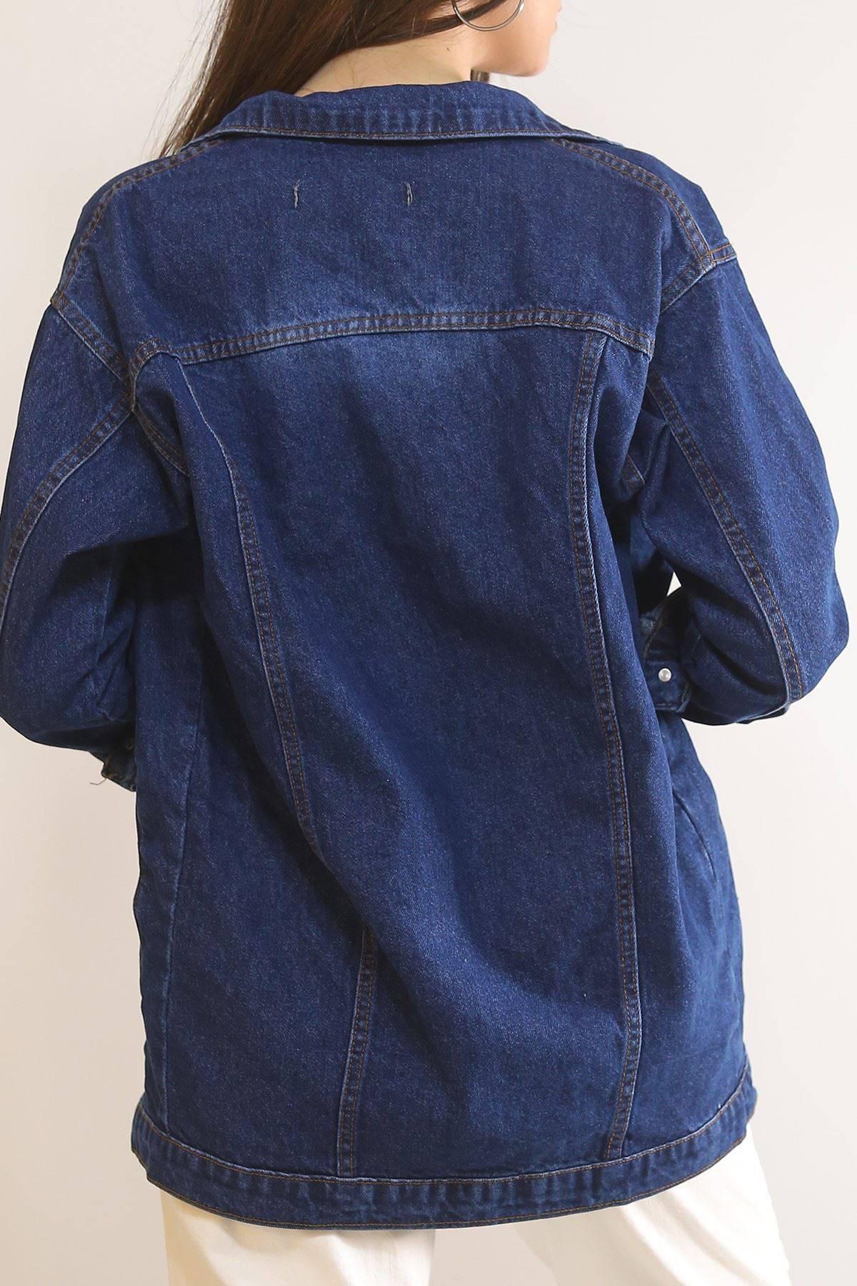 Yırtıklı Boyfrend Kot Ceket Koyulaci - 0833.925.