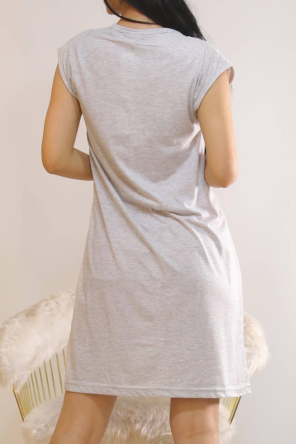 Japone Kol Elbise Gri6 - 5504.1287.