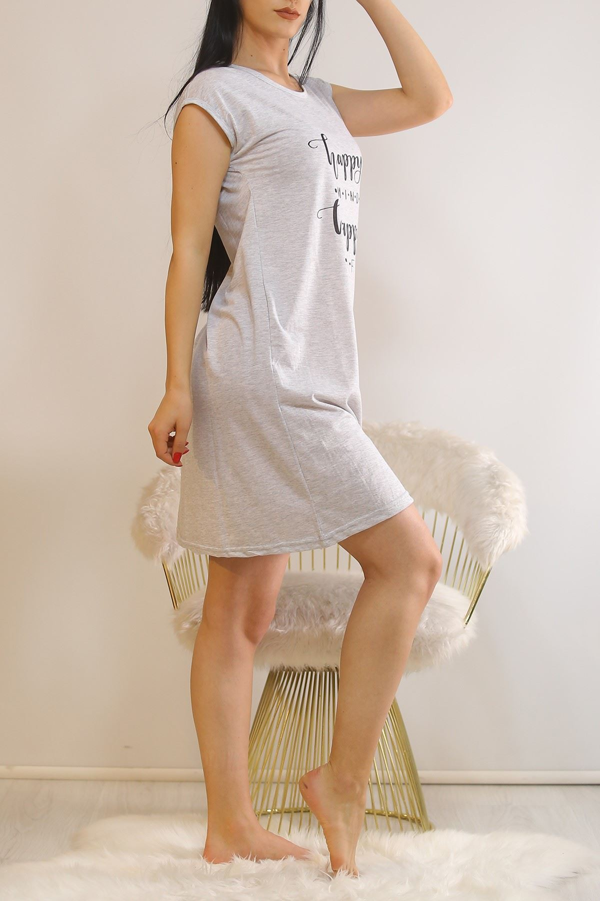 Japone Kol Elbise Gri10 - 5504.1287.
