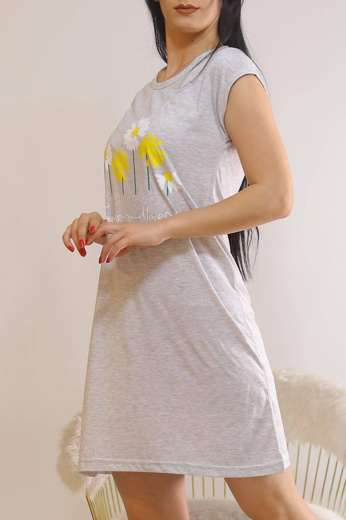 Japone Kol Elbise Gri11 - 5504.1287.