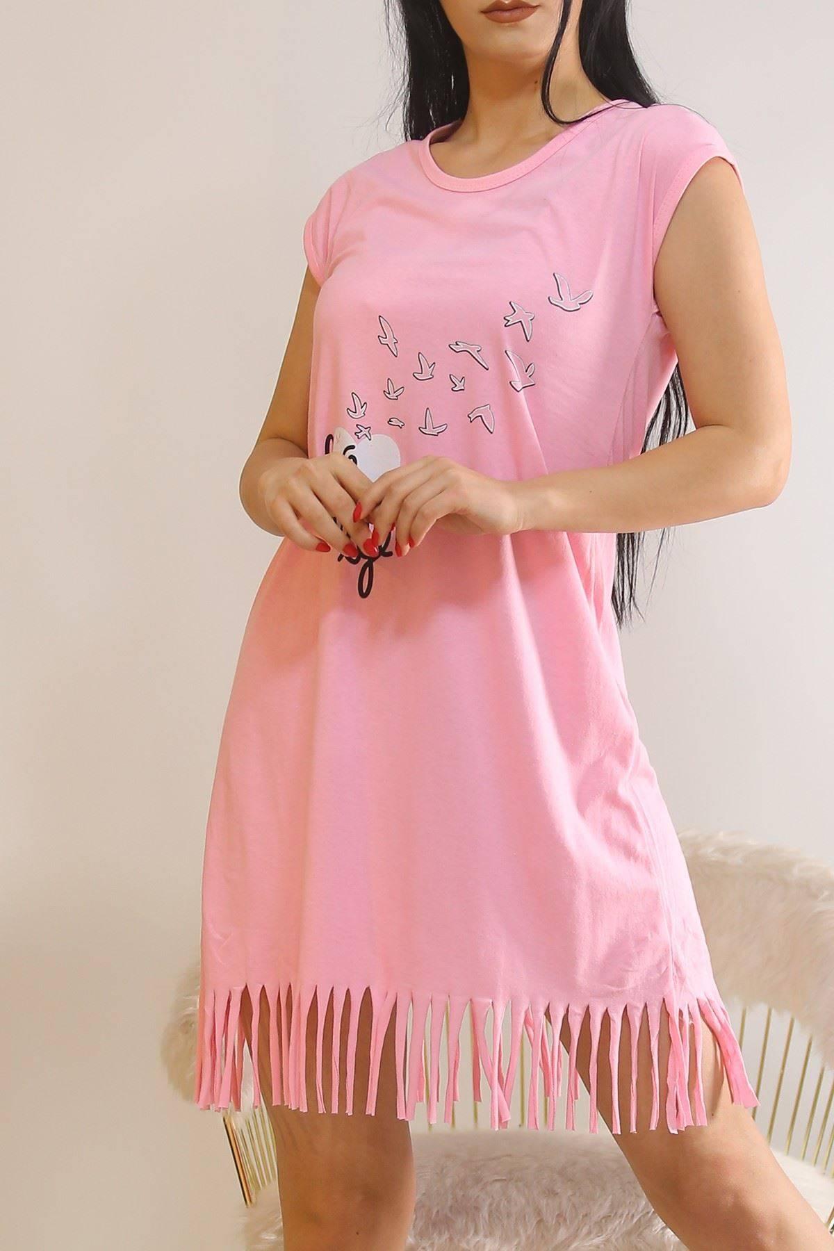 Altı Püsküllü Elbise Pembe1 - 5775.1287.