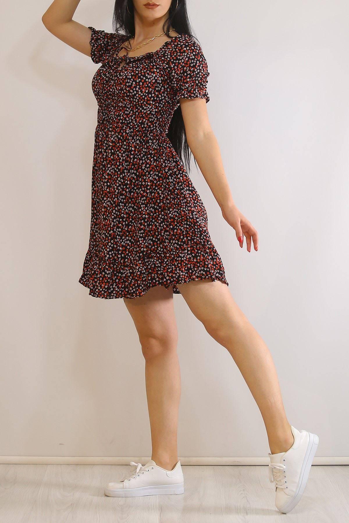 Desenli Elbise Siyah - 5964.1254.