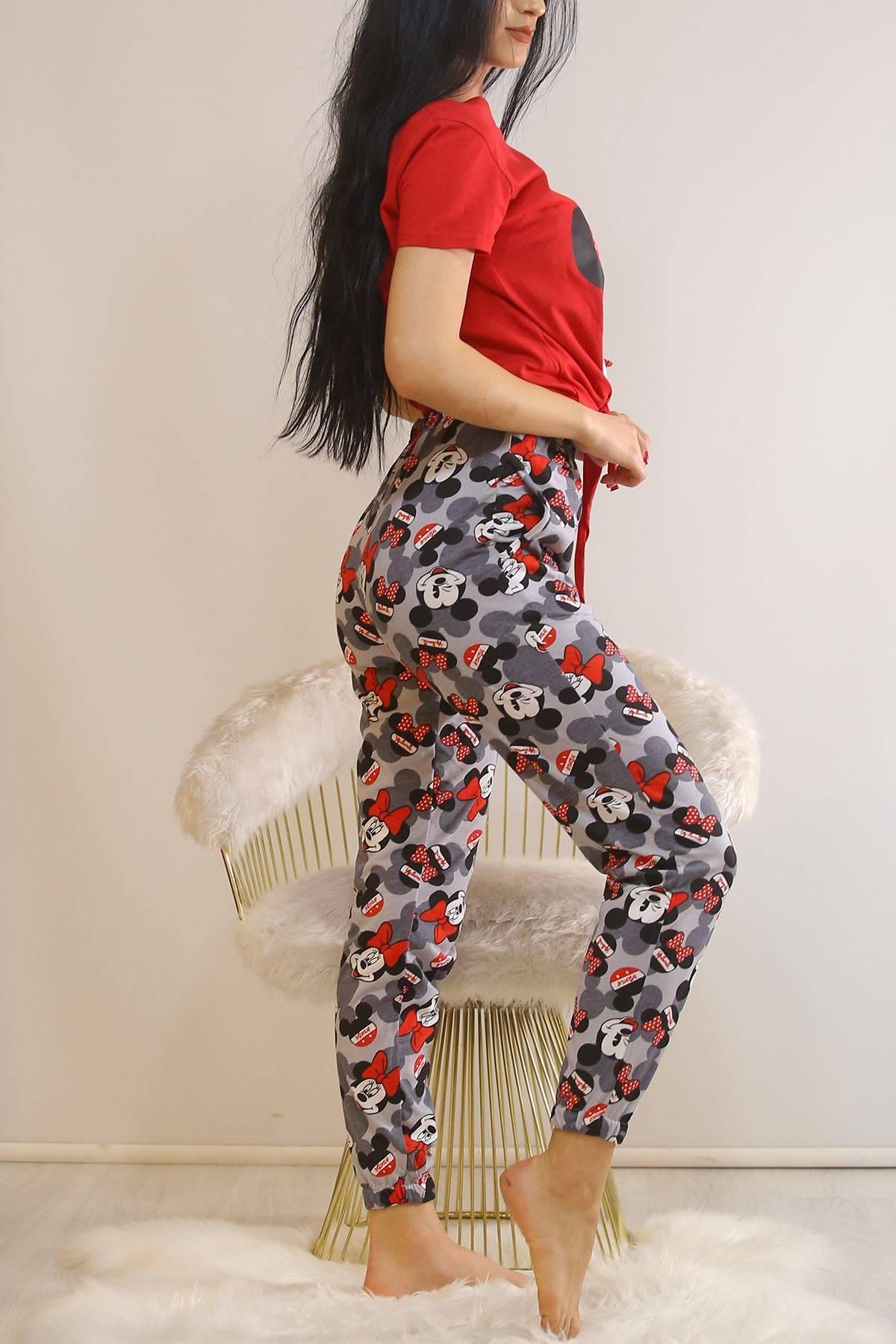 Bağlamalı Pijama Takımı Kırmızı - 5991.1059.