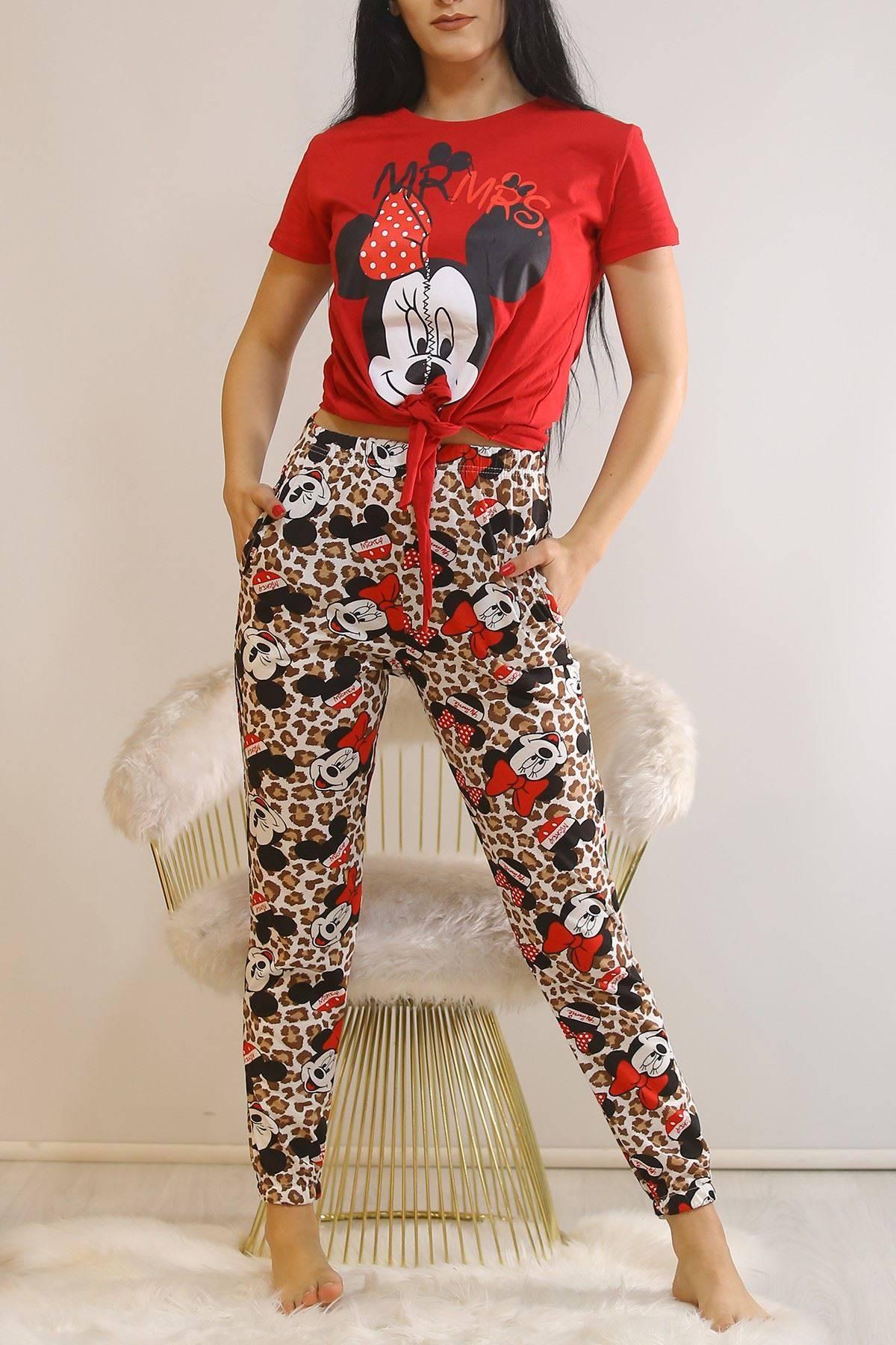 Bağlamalı Pijama Takımı Kırmızı1 - 5991.1059.
