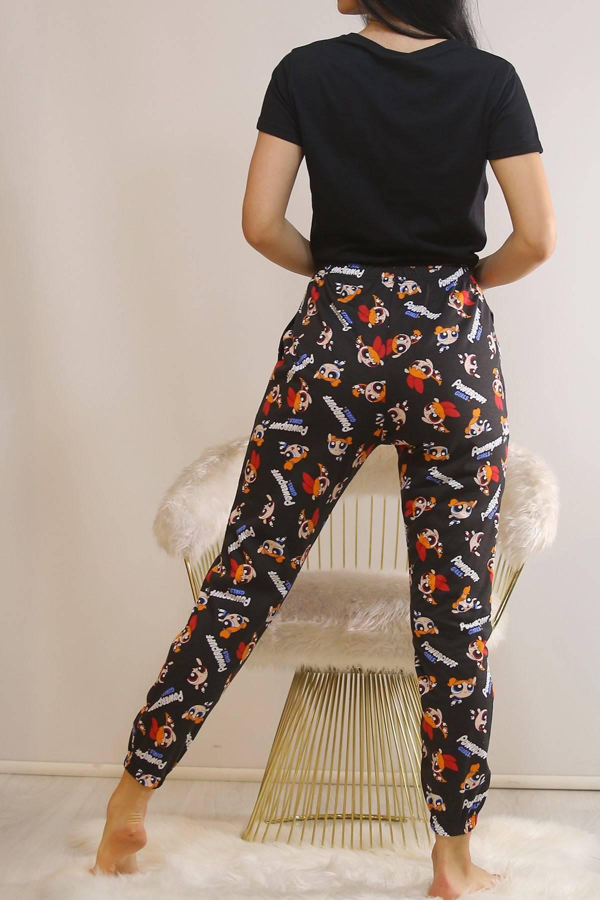 Bağlamalı Pijama Takımı Siyah2 - 5991.1059.