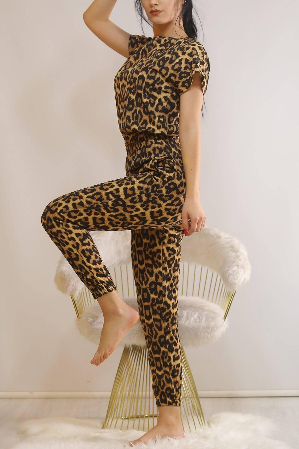 Crop Pijama Takımı Leopar - 5992.1059.