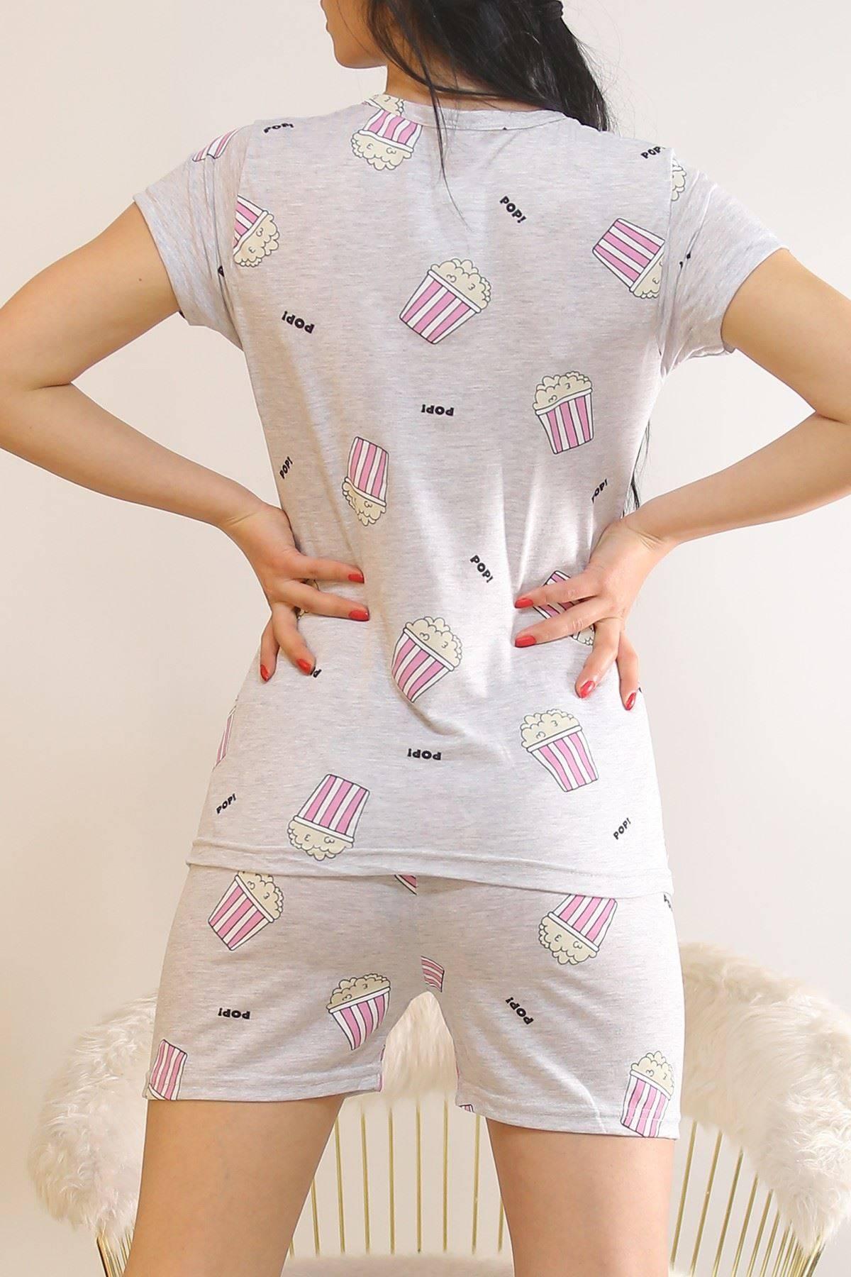 Şortlu Pijama Takımı Gri - 5995.1287.