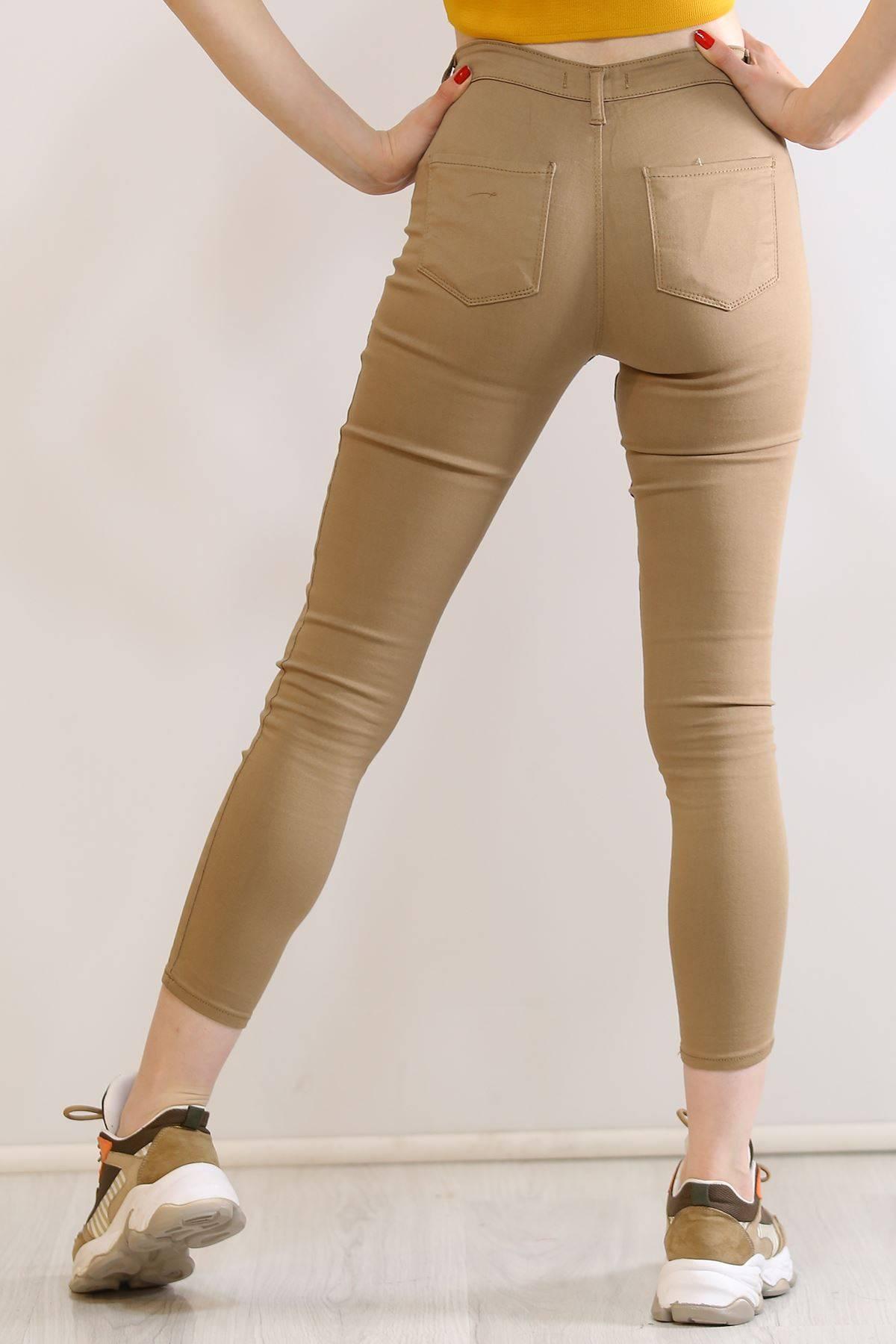 Cepsiz Dar Kot Pantolon Sütlükahve - 5661.299.