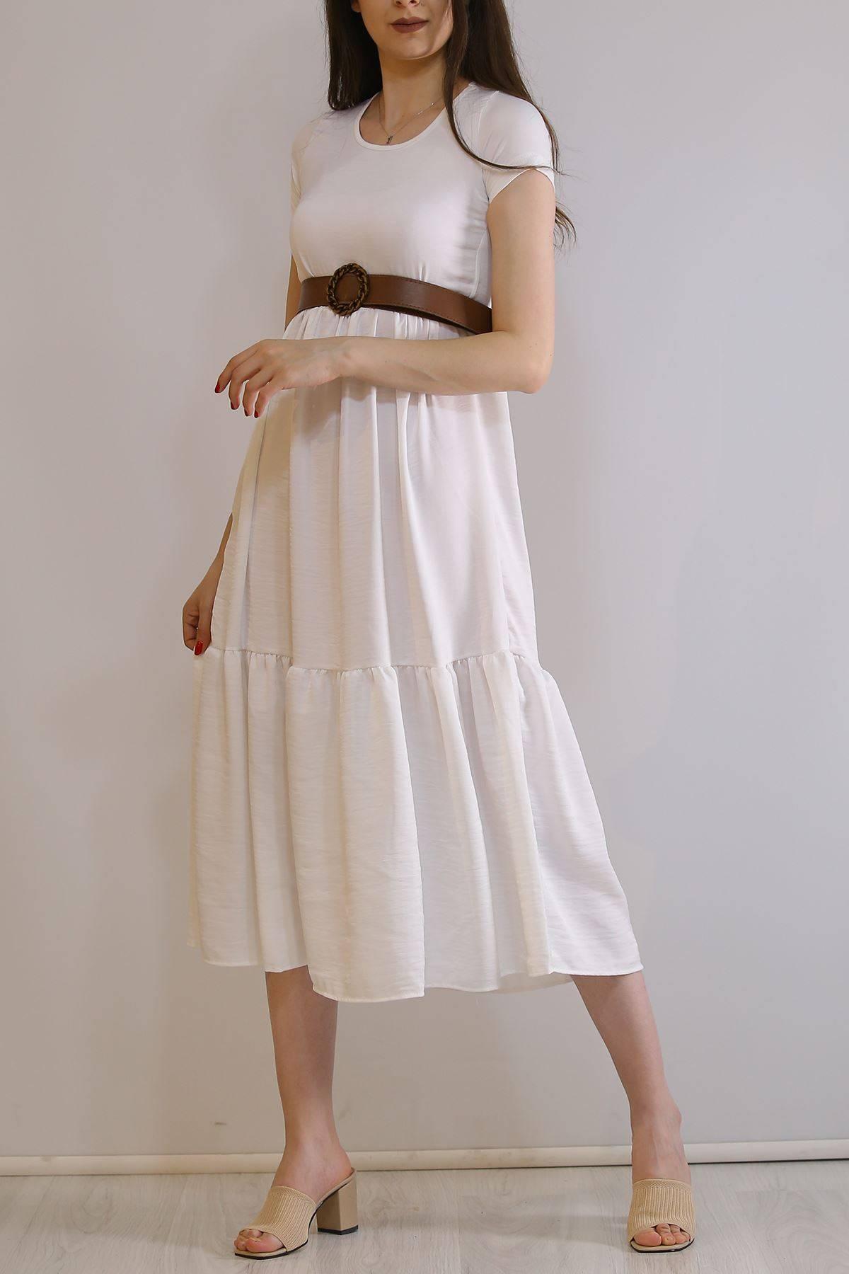 Ayrobin Elbise Beyaz - 6023.1247.