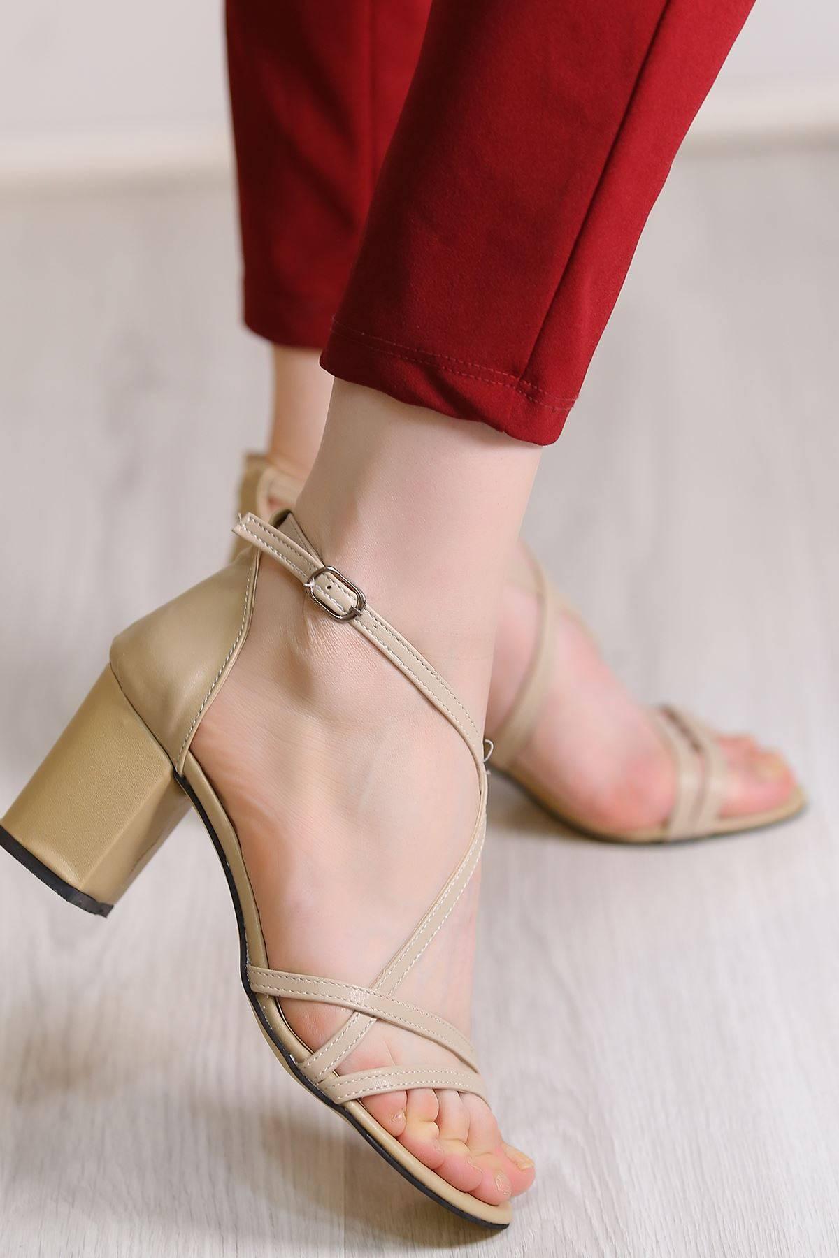 7 Cm Topulu Ayakkabı Ten - 5786.264.