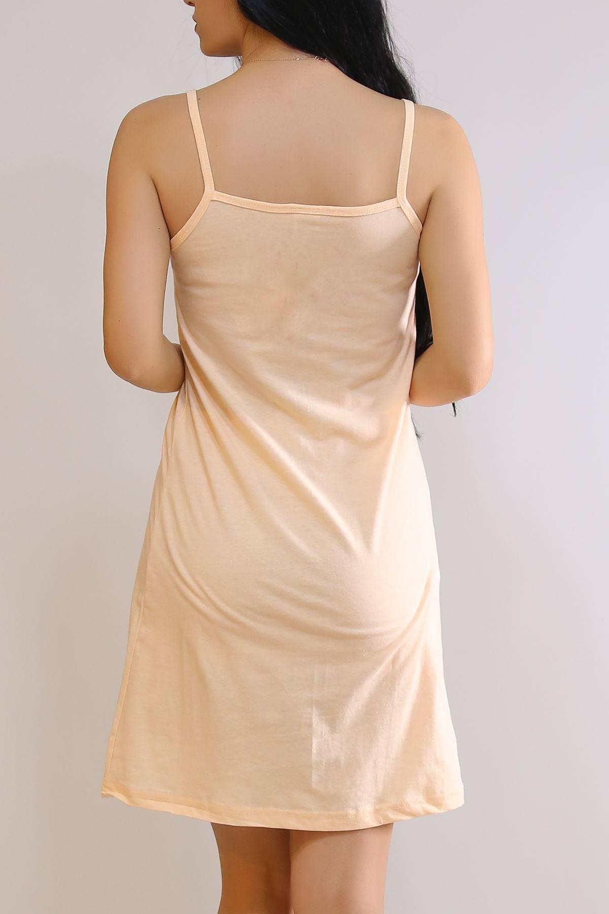 İp Askılı Elbise Kavuniçi - 5996.1287.