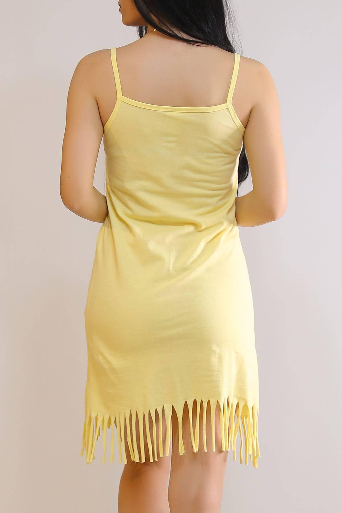 İp Askılı Elbise Sarı - 5996.1287.