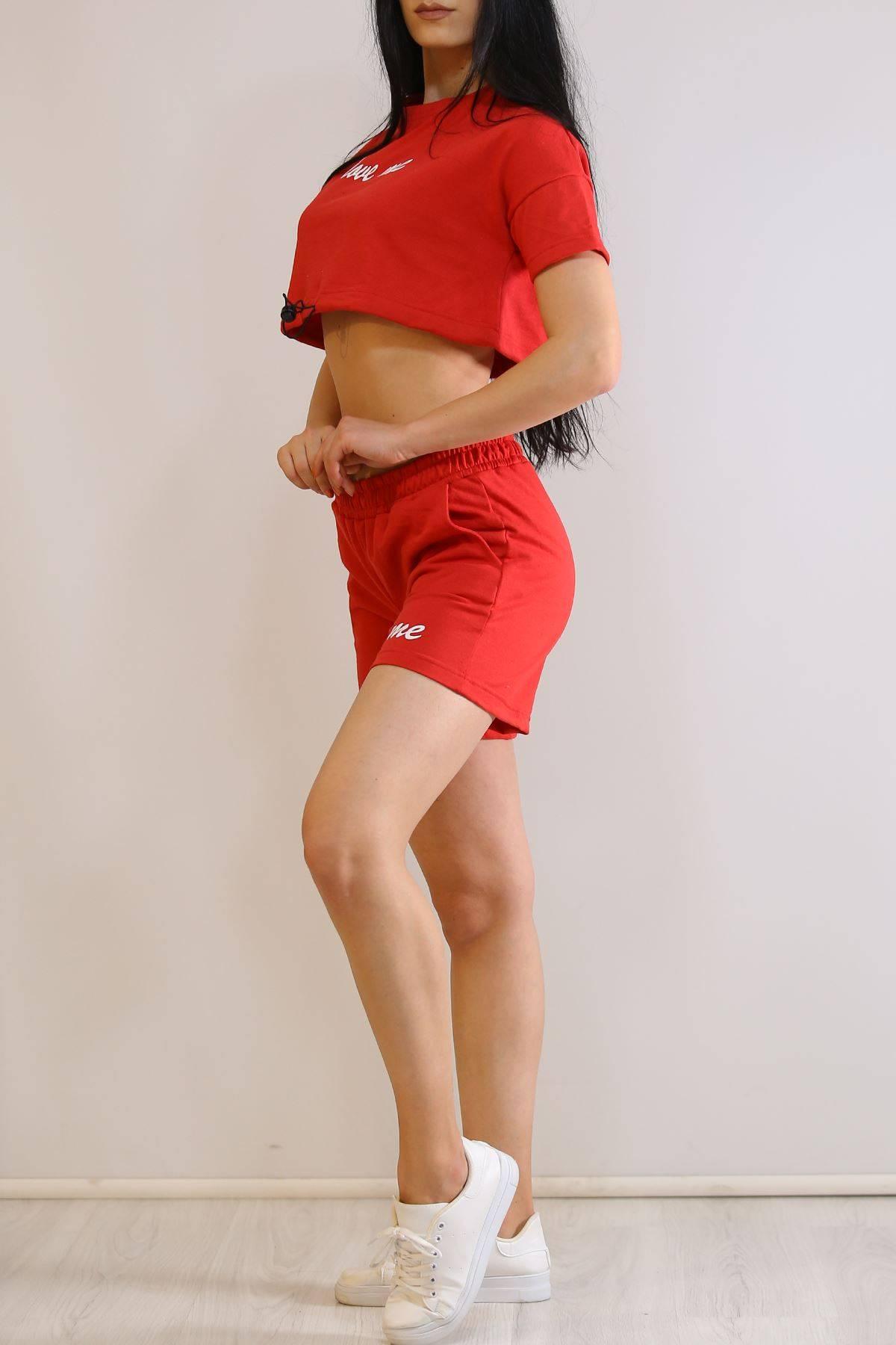 Baskılı Şort Takım Kırmızı - 19902.200.
