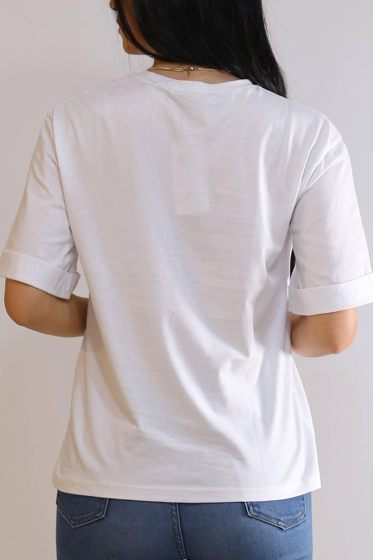 Baskılı Tişört Beyaz - 3124.196.