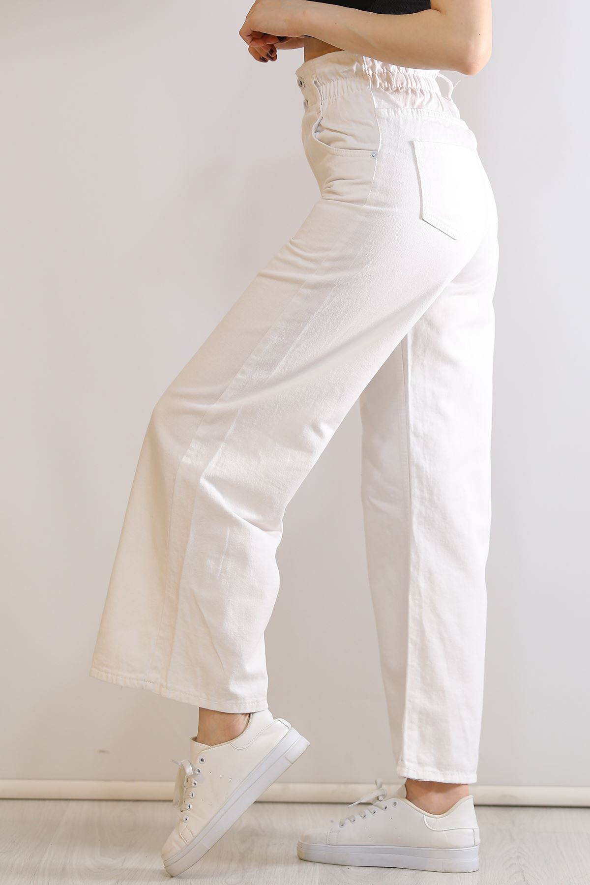 Marul Bel Kot Pantolon Beyaz - 6805.1184.
