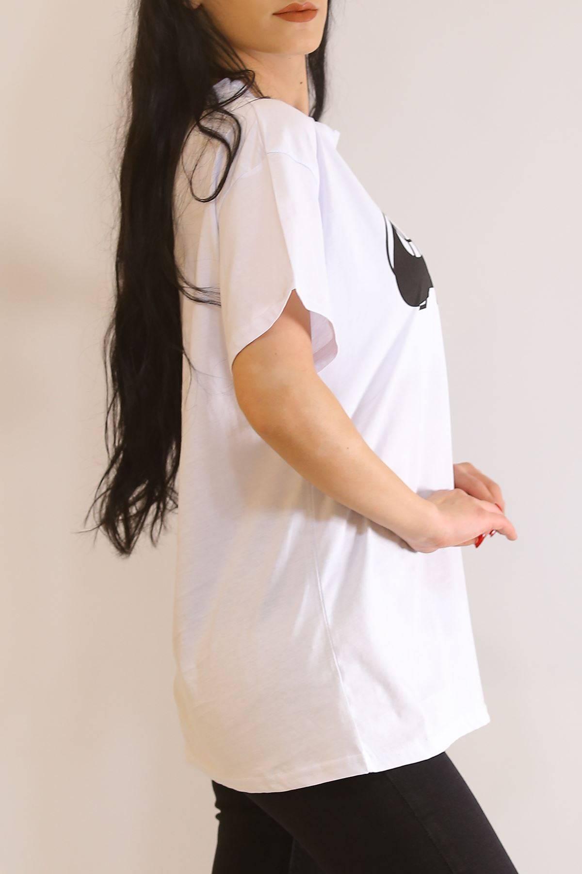 Baskılı Tişört Beyaz - 6054.1377.
