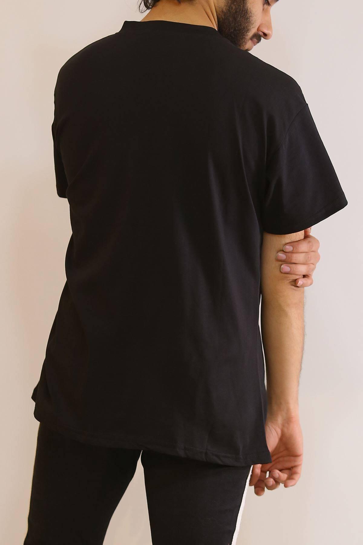 Baskılı Tişört Siyah - 6054.1377.