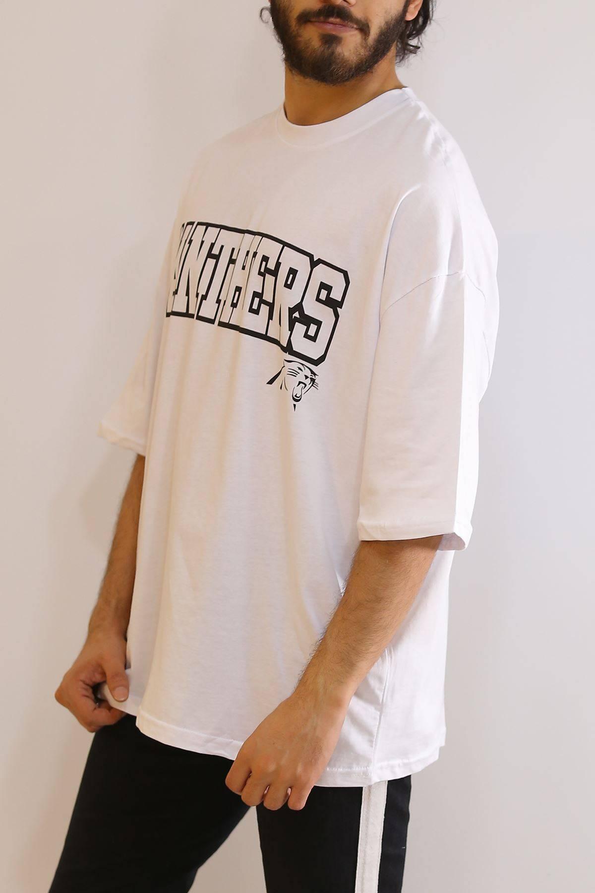 Baskılı Tişört Beyaz - 6055.1377.