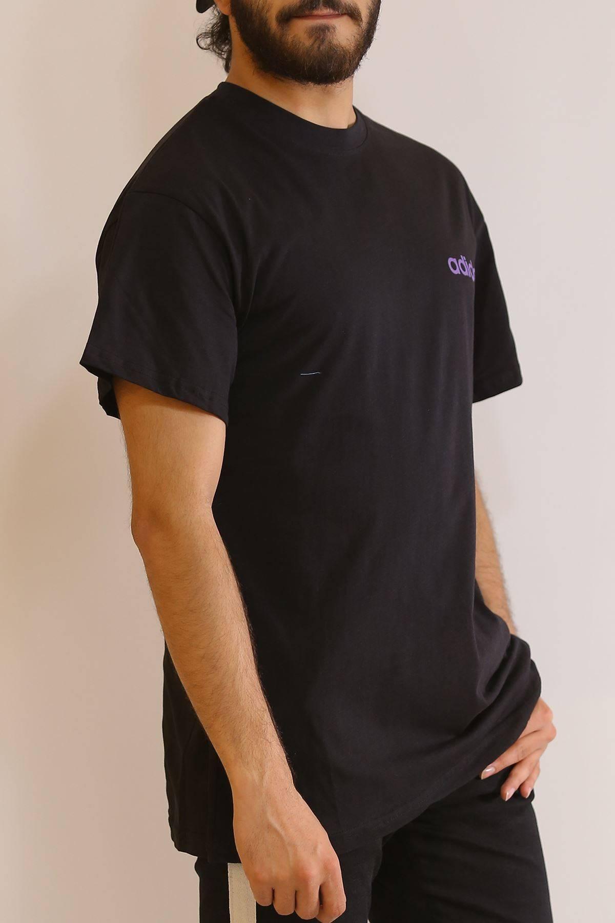Arkası Baskılı Tişört Siyah - 6061.1377.