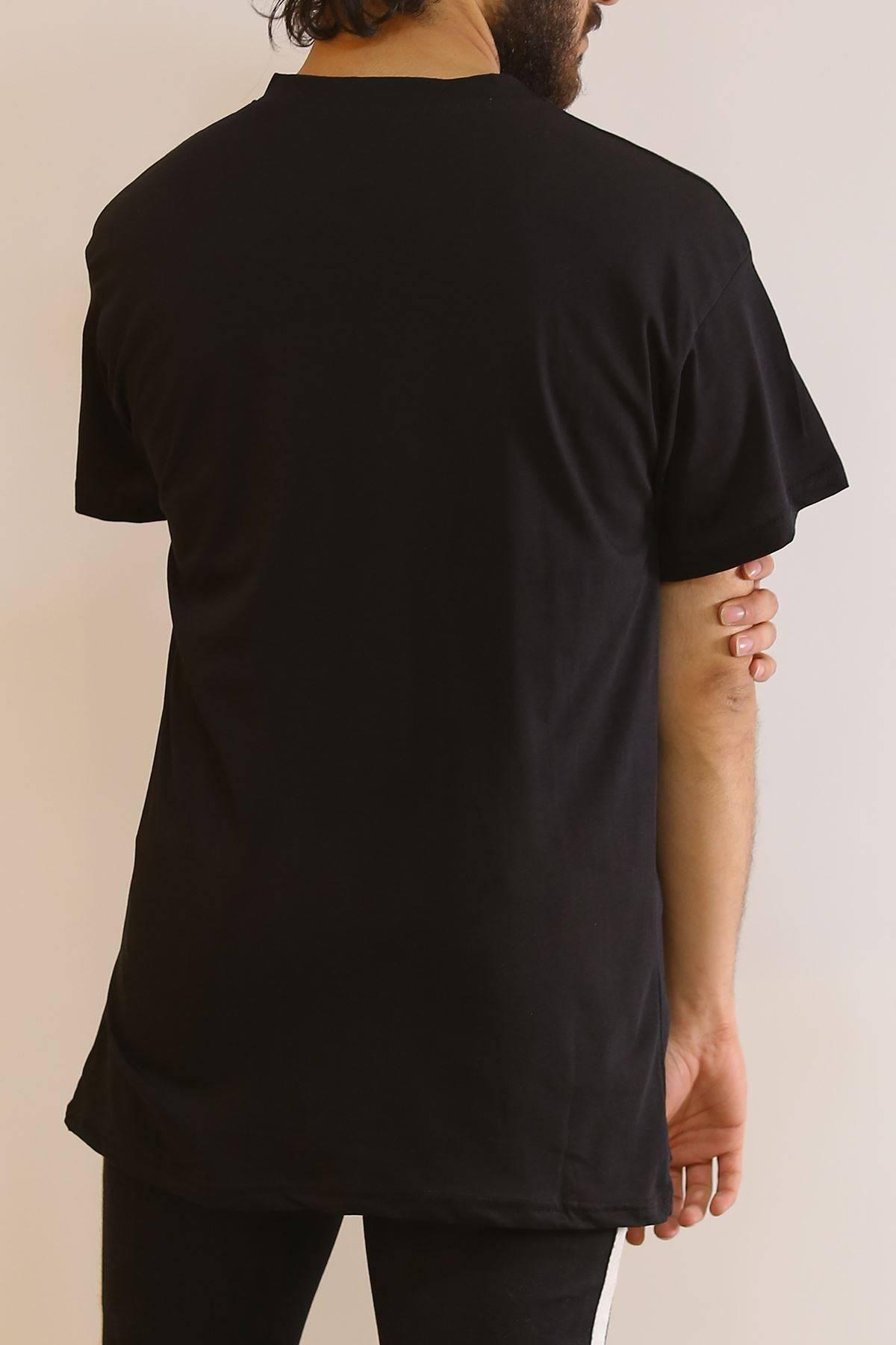 Ejderha Baskılı Tişört Siyah - 6063.1377.