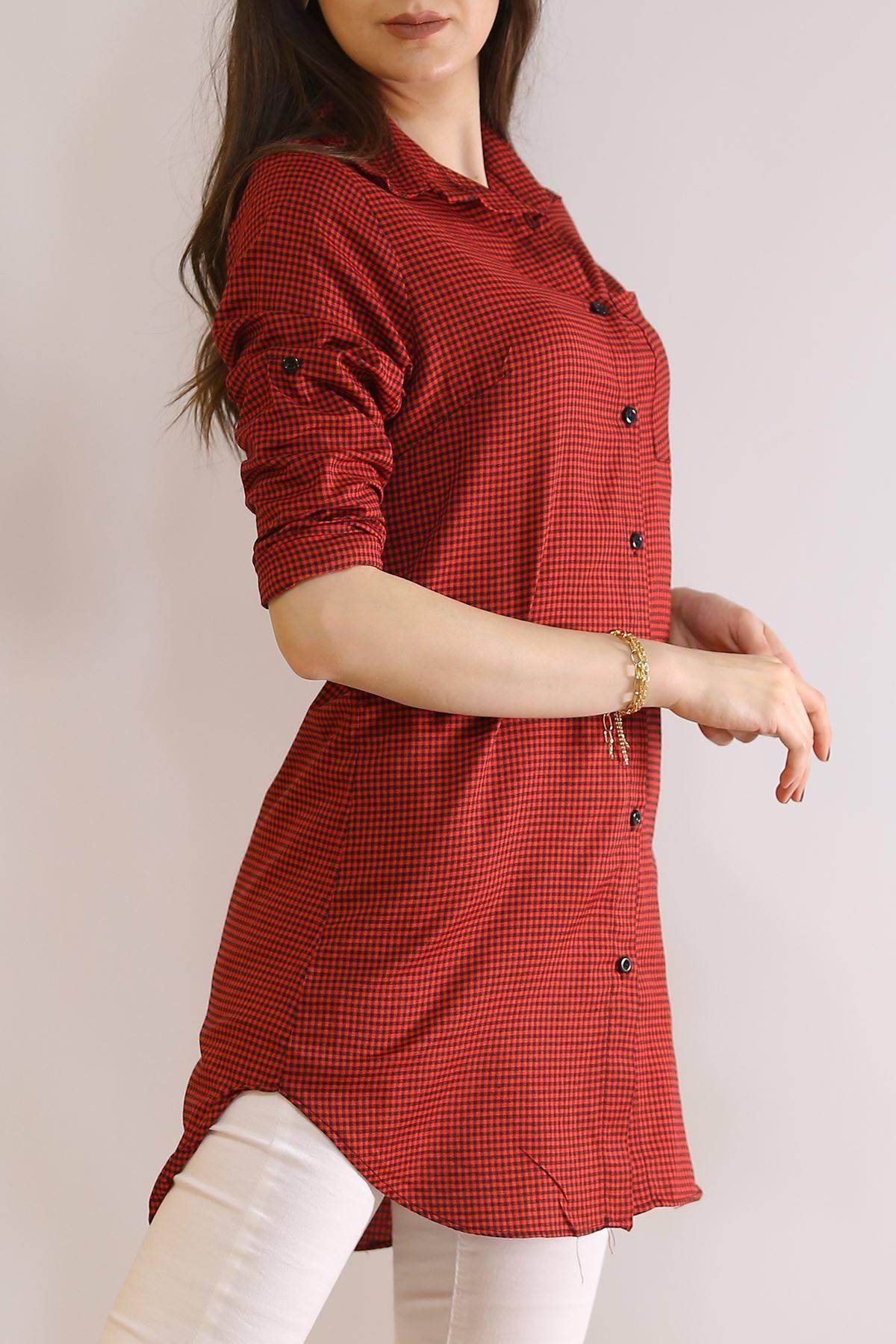 Tunik Gömlek Karelikırmızı - 5905.1376.