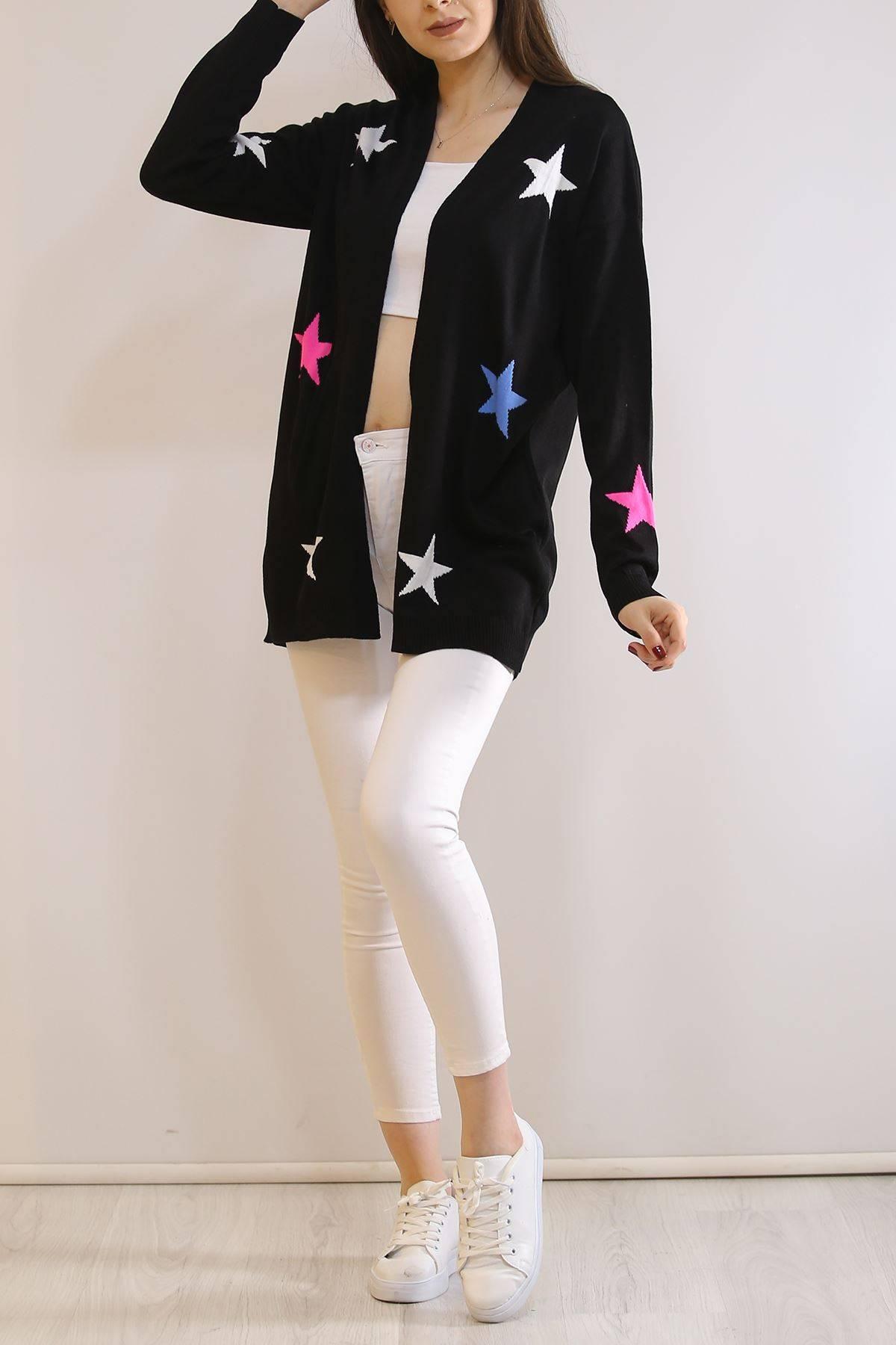 Yıldızlı Hırka Siyah - 9427.109.