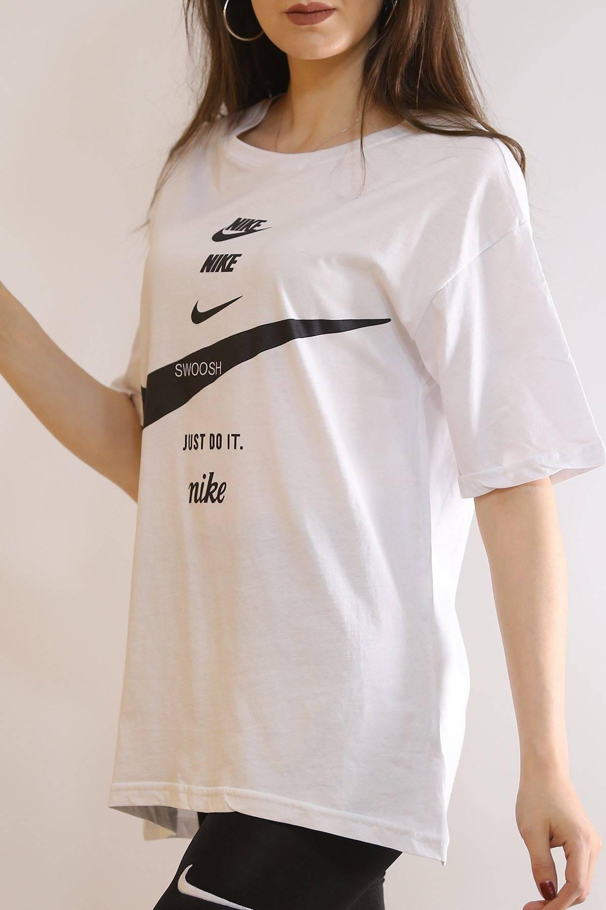 Baskılı Tişört Beyaz - 6069.1247.