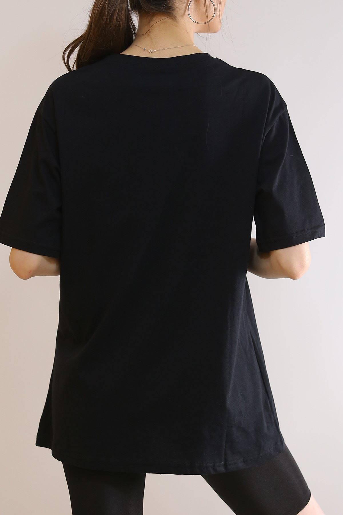 Baskılı Tişört Siyah - 6069.1247.