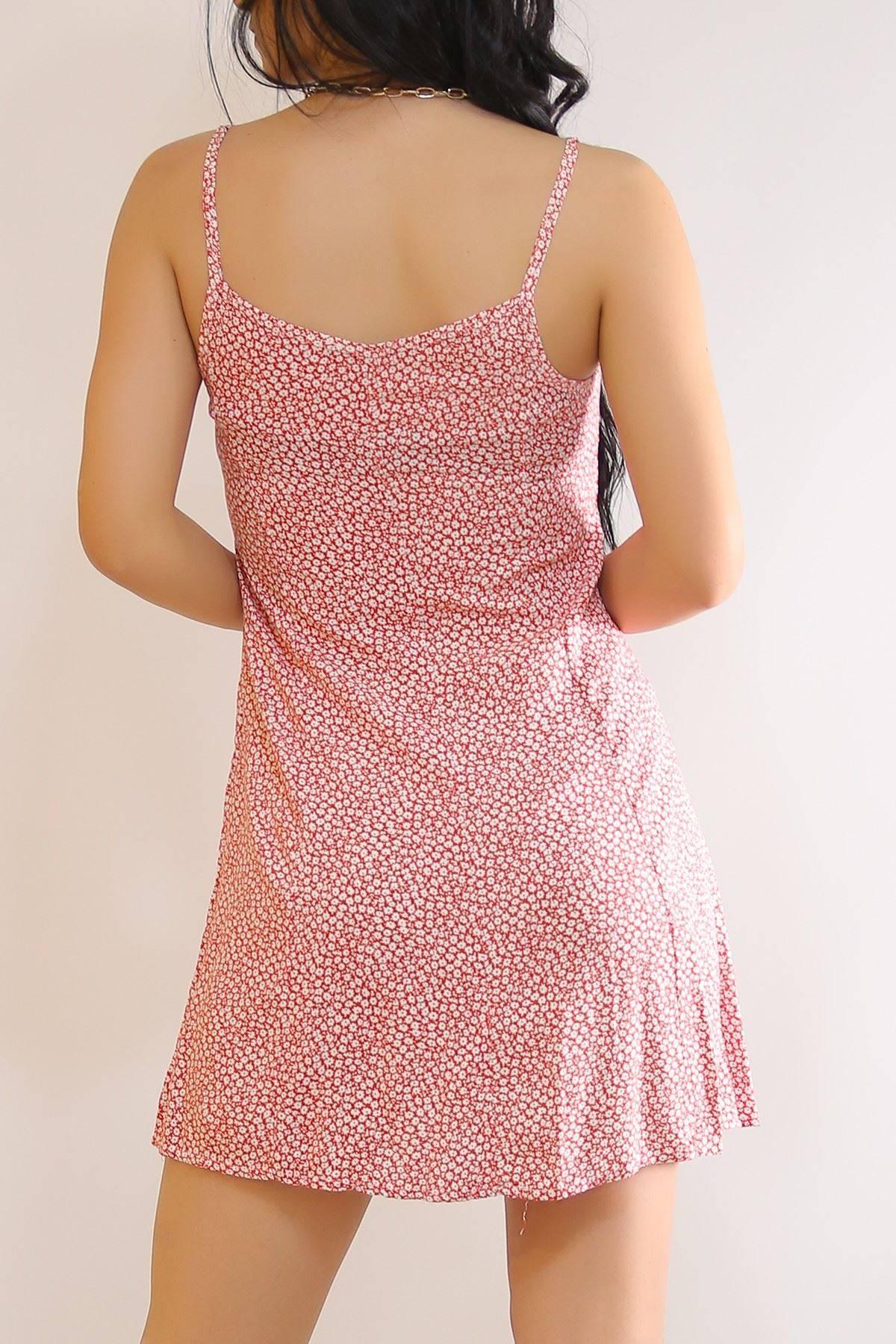 İp Askılı Elbise Kırmızı - 6079.1153.