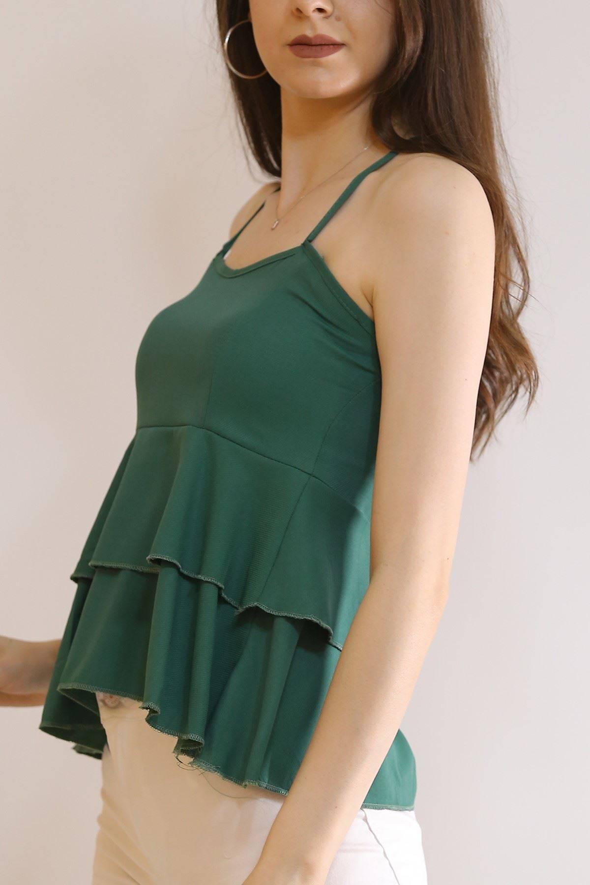 Çapraz Askılı Bluz Yeşil - 6080.1153.