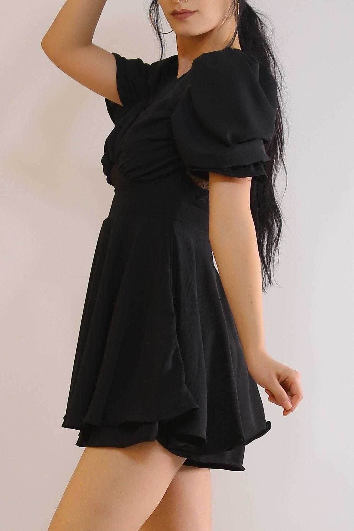 Tül Detaylı Elbise Siyah - 21204.101.