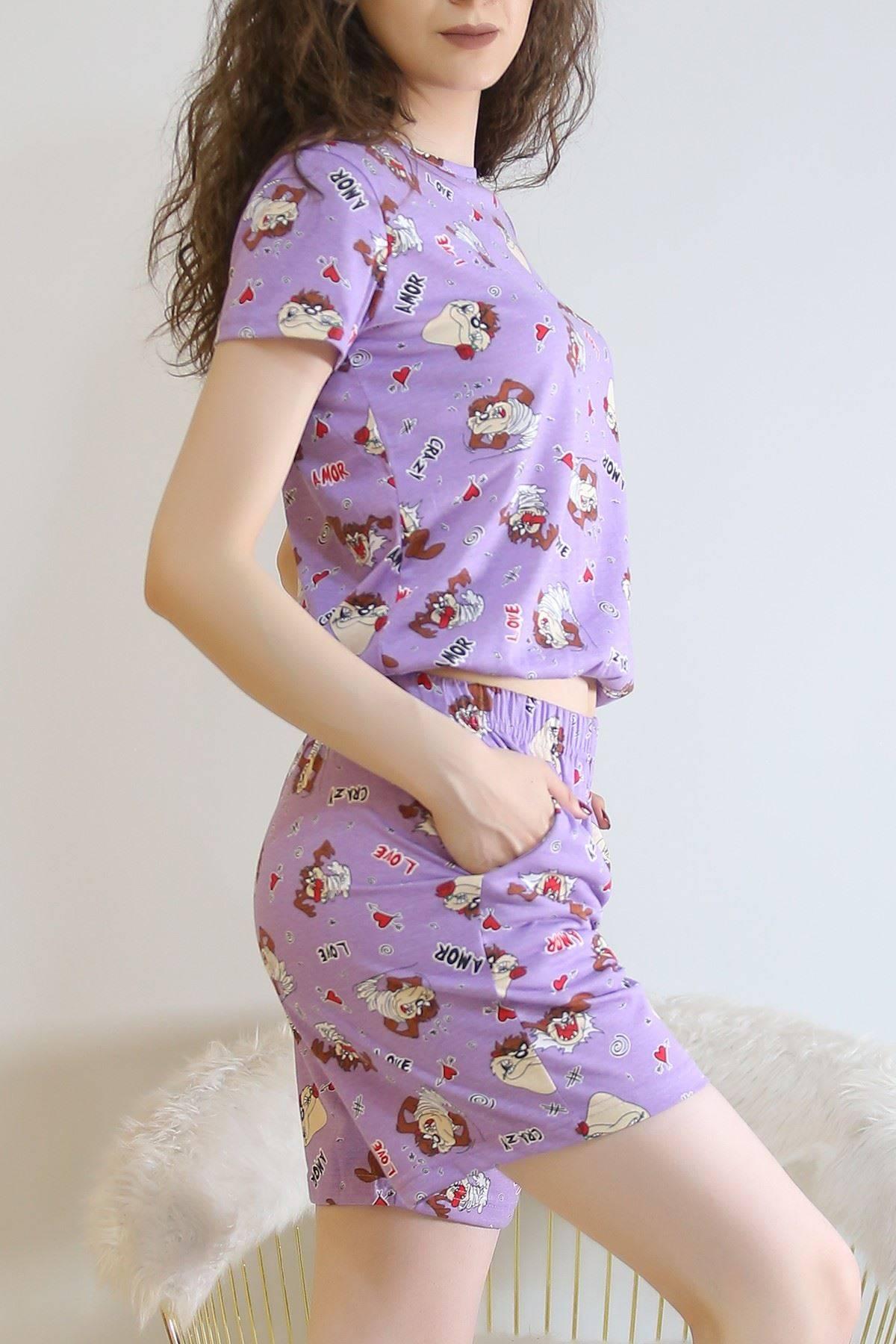 Şortlu Pijama Takımı Leylak - 5924.1059.