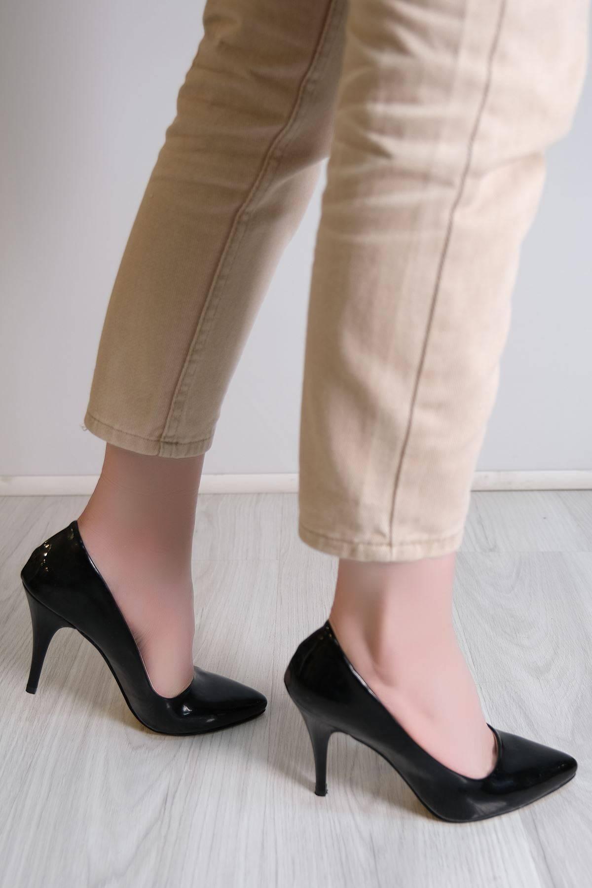 9 Cm Topuklu Ayakkabı Siyahrugan - 5177.264.