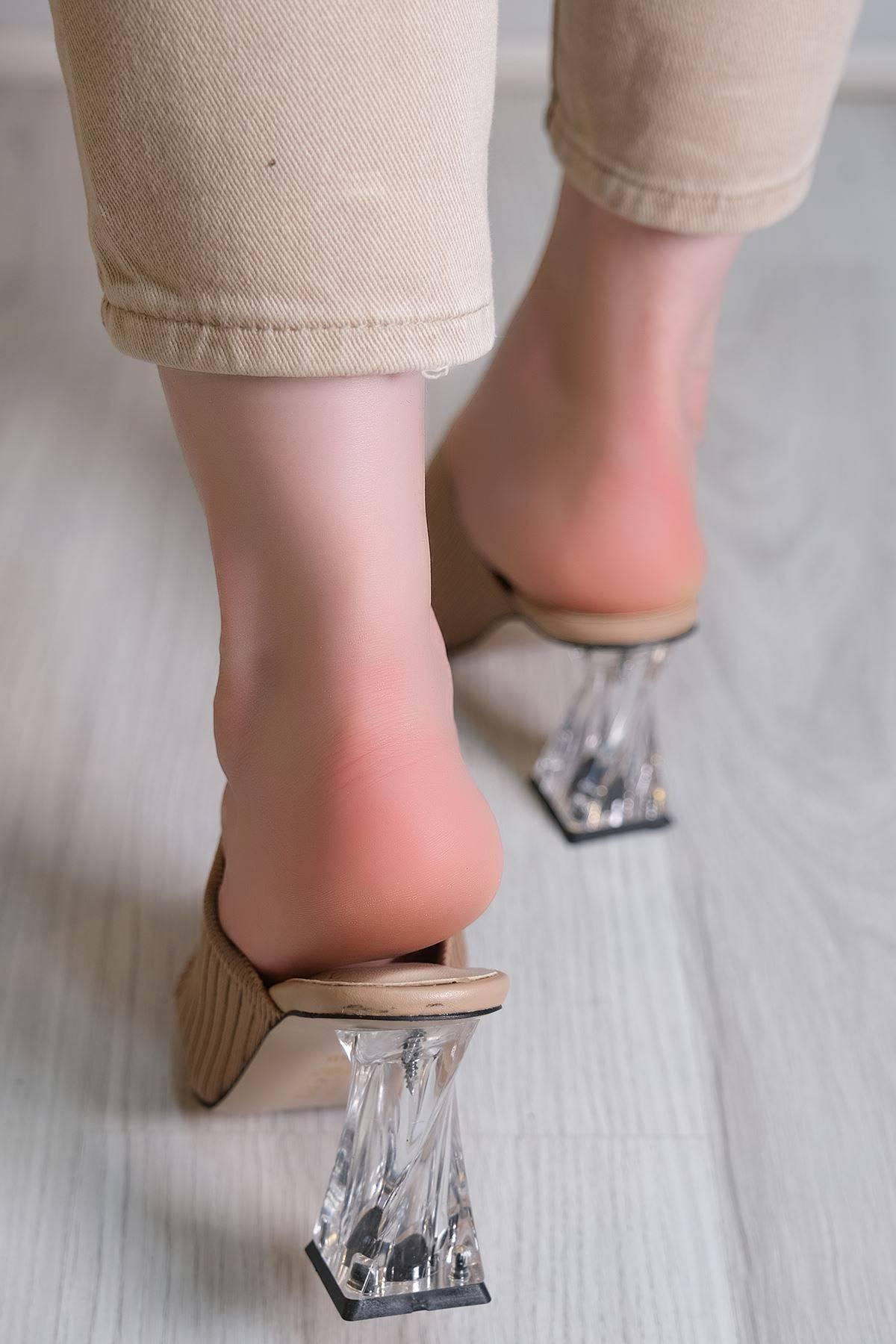 7 Cm Topuklu Ayakkabı Sütlükahve - 6087.264.