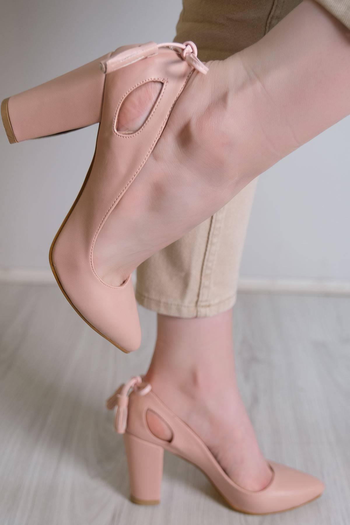 9 Cm Topuklu Ayakkabı Pudra - 6106.264.