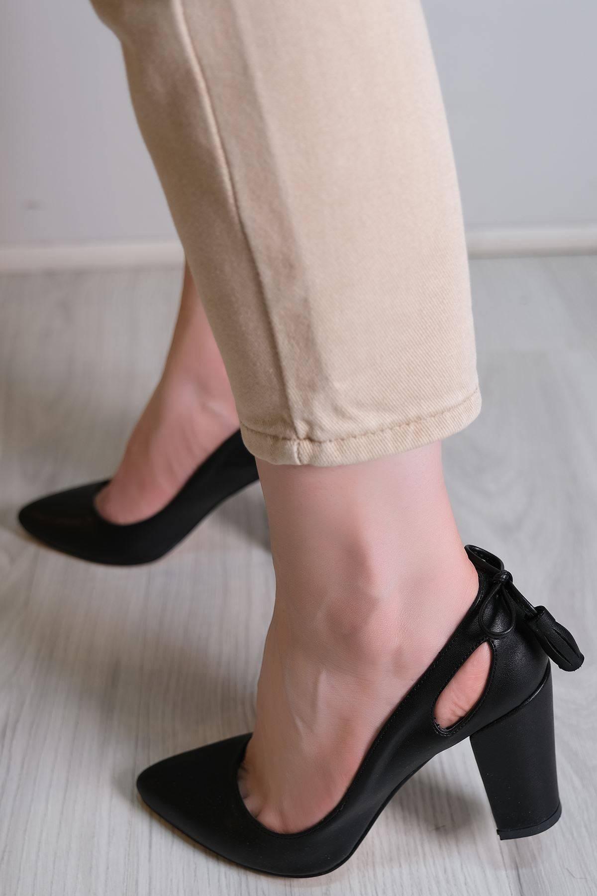 9 Cm Topuklu Ayakkabı Siyah - 6106.264.