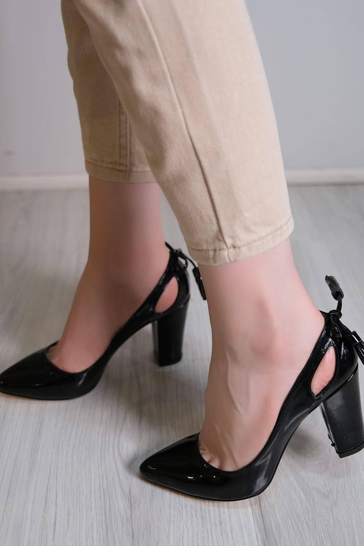 9 Cm Topuklu Ayakkabı Siyahrugan - 6106.264.