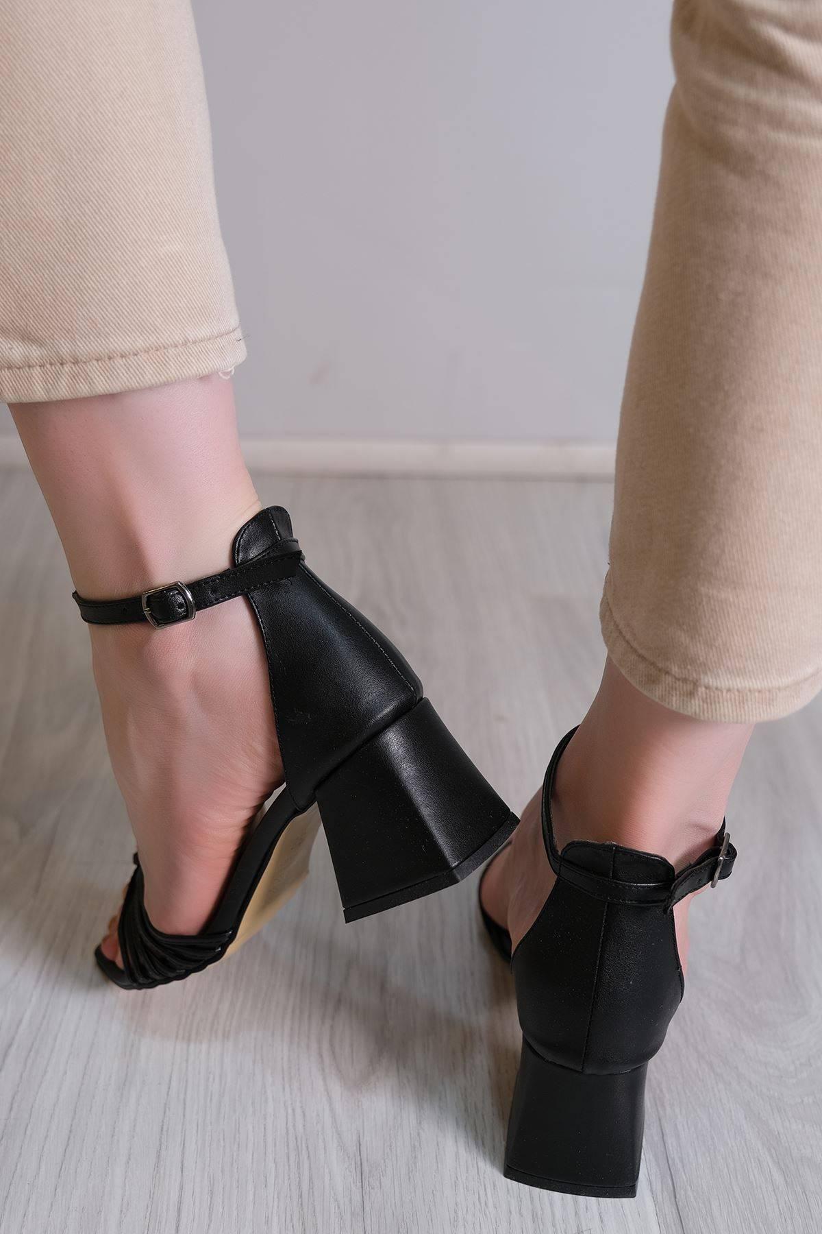 6 Cm Topuklu Ayakkabı Siyah - 6107.264.