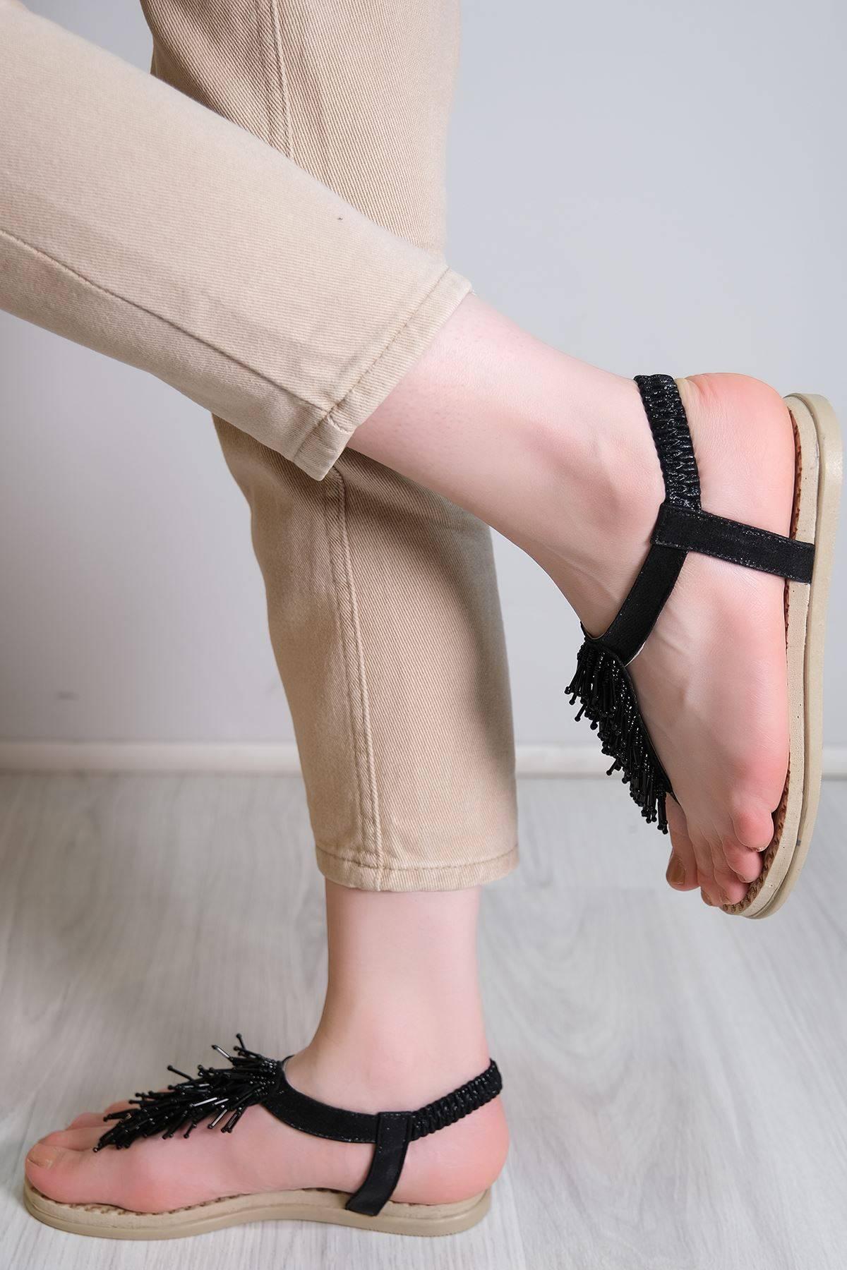 Parmak Arası Sandalet Siyah - 6111.264.
