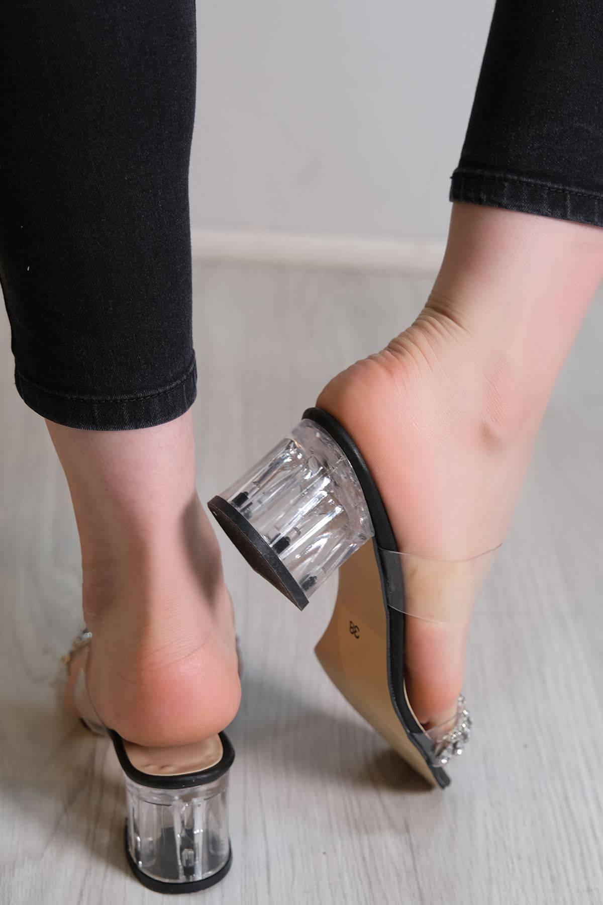 5 Cm Topuklu Ayakkabı Siyah - 6113.264.