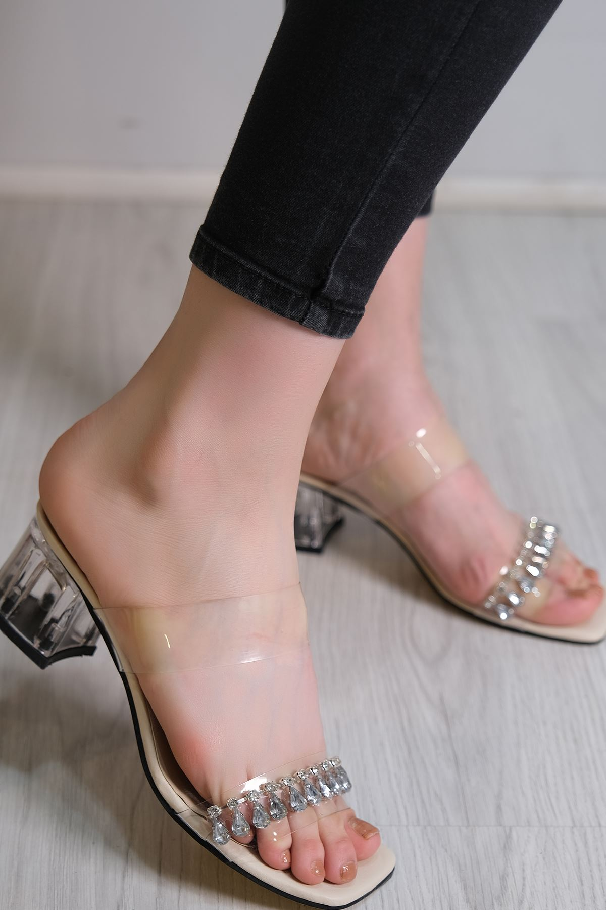 5 Cm Topuklu Ayakkabı Ten - 6113.264.